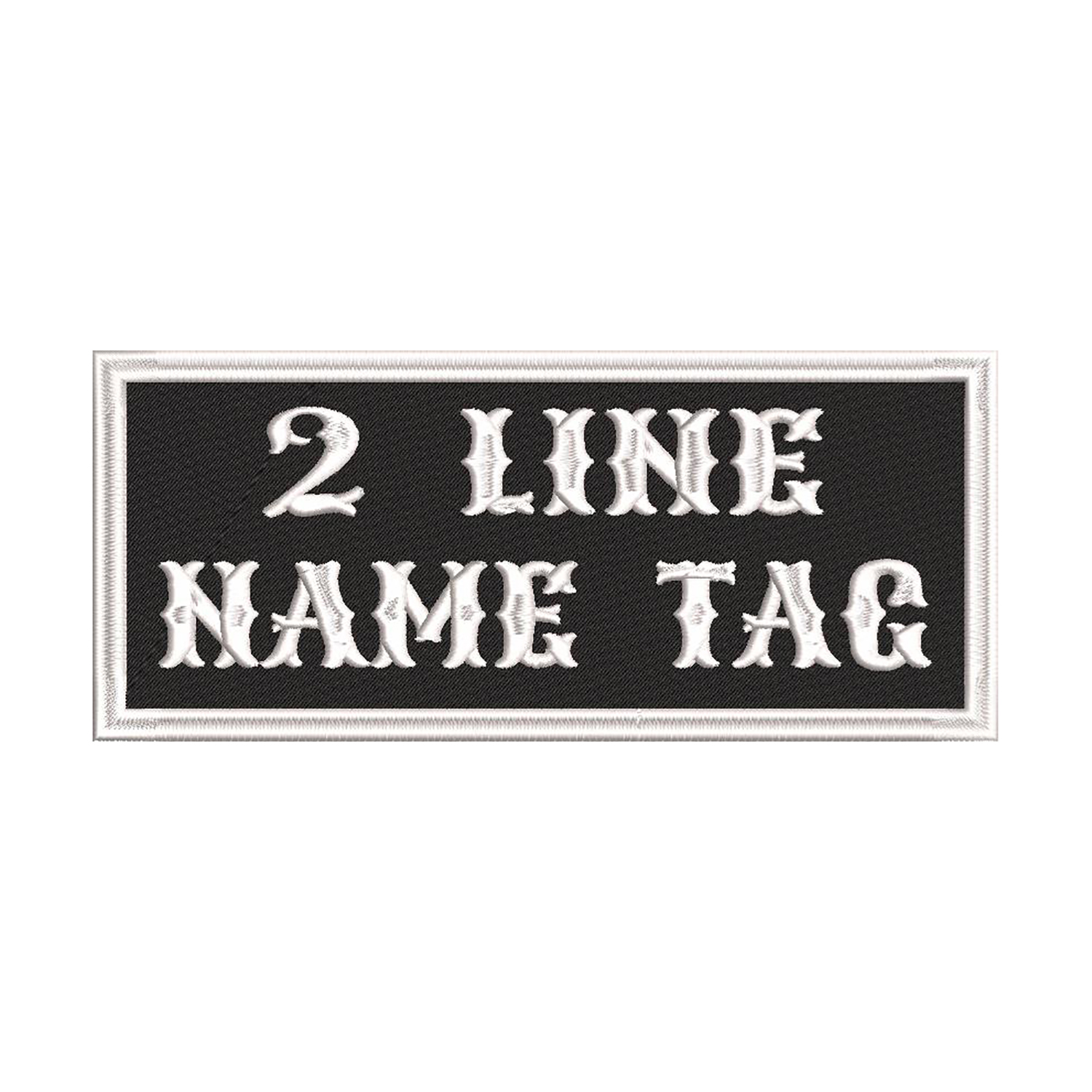3.5 x 1.5 Custom Embroidered Name Tag Biker Patch
