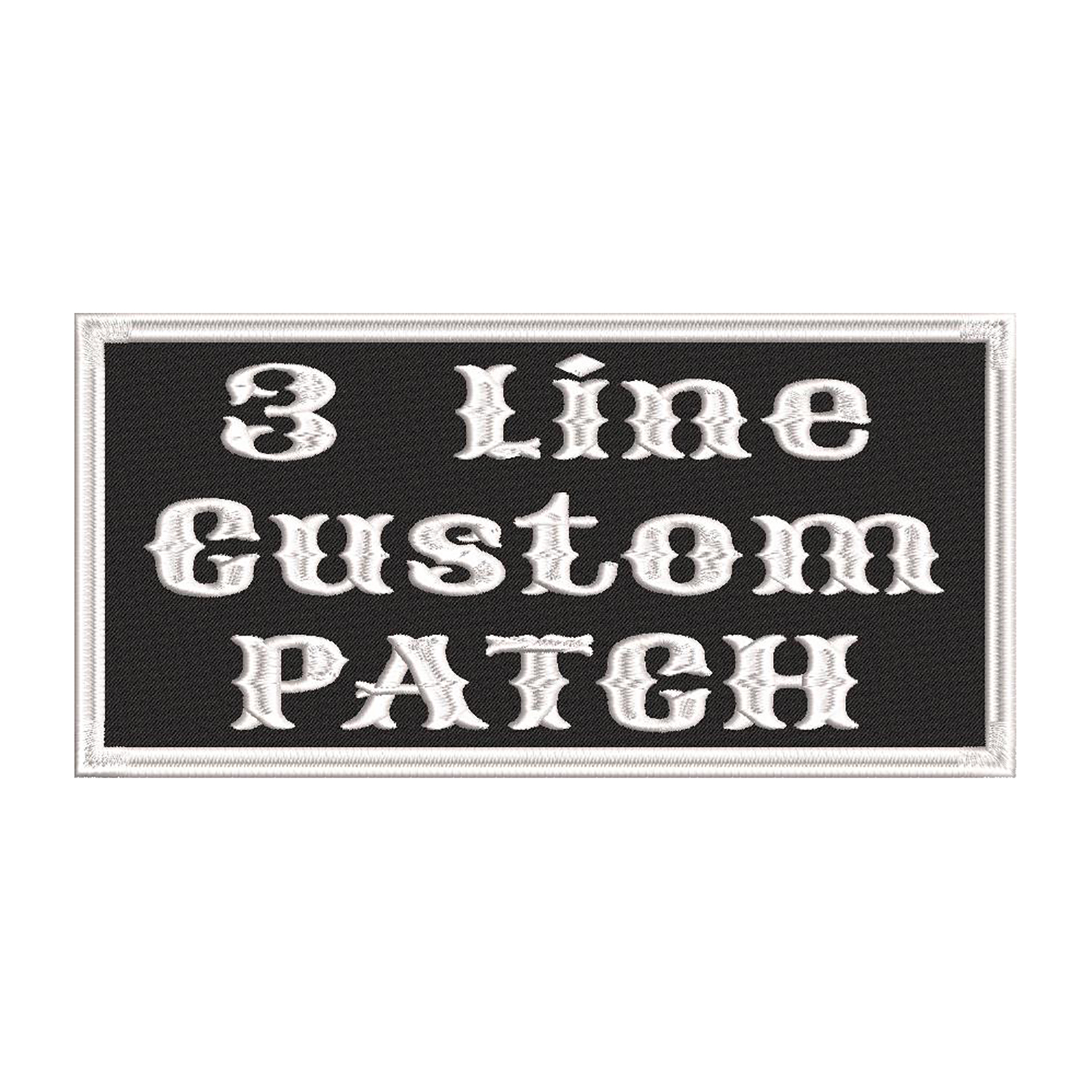 3 Line Custom Embroidered Name Tag Biker Patch