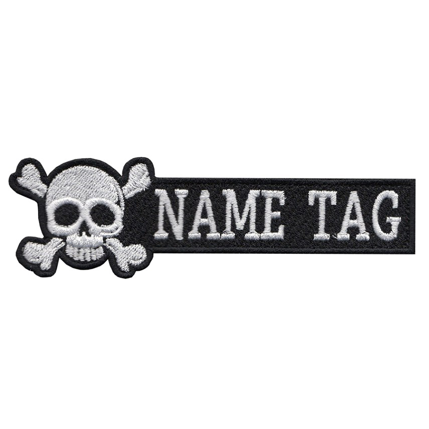 New Custom Skull Name Tag Biker Patch