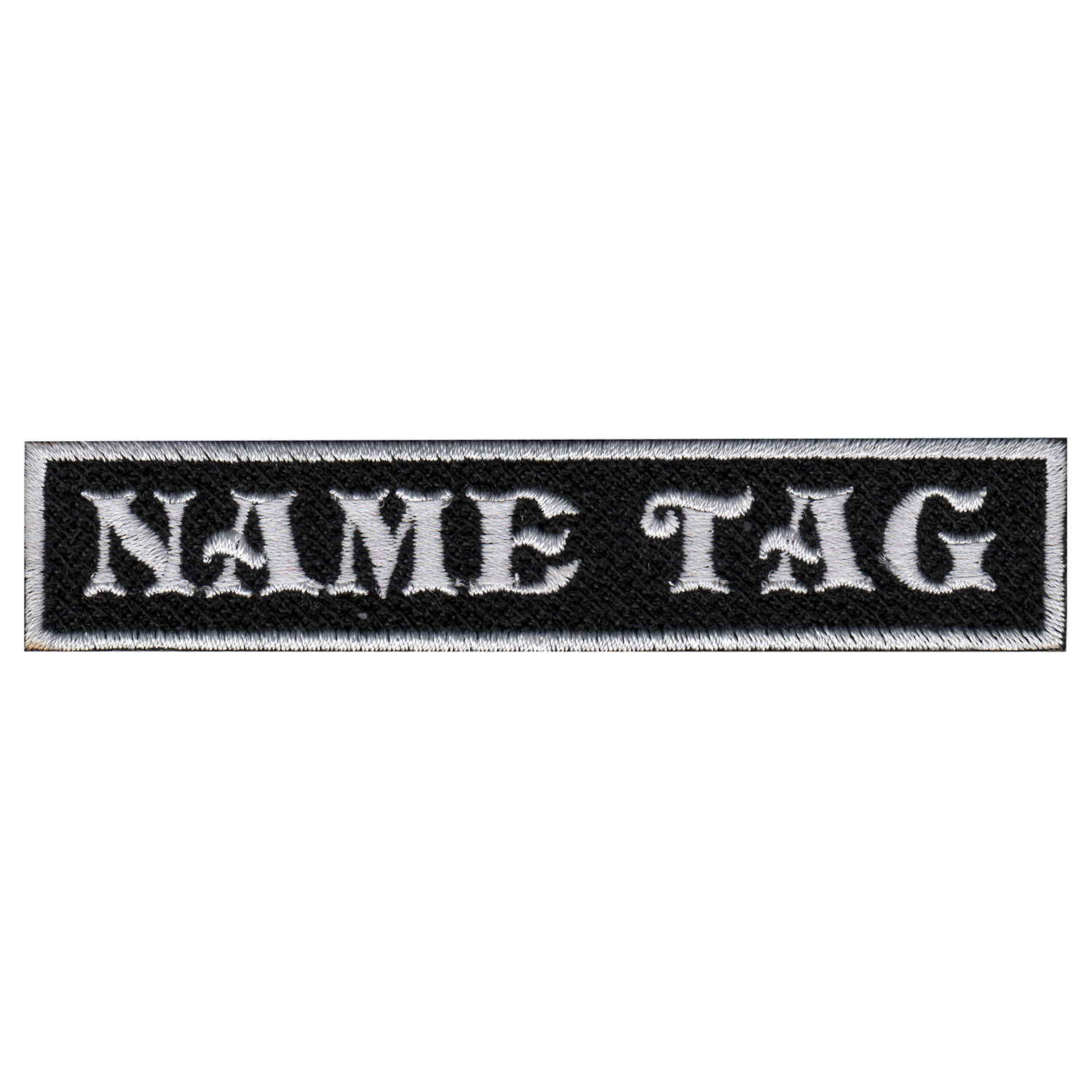 Custom Name Tag Biker Patch 4 x 3/4