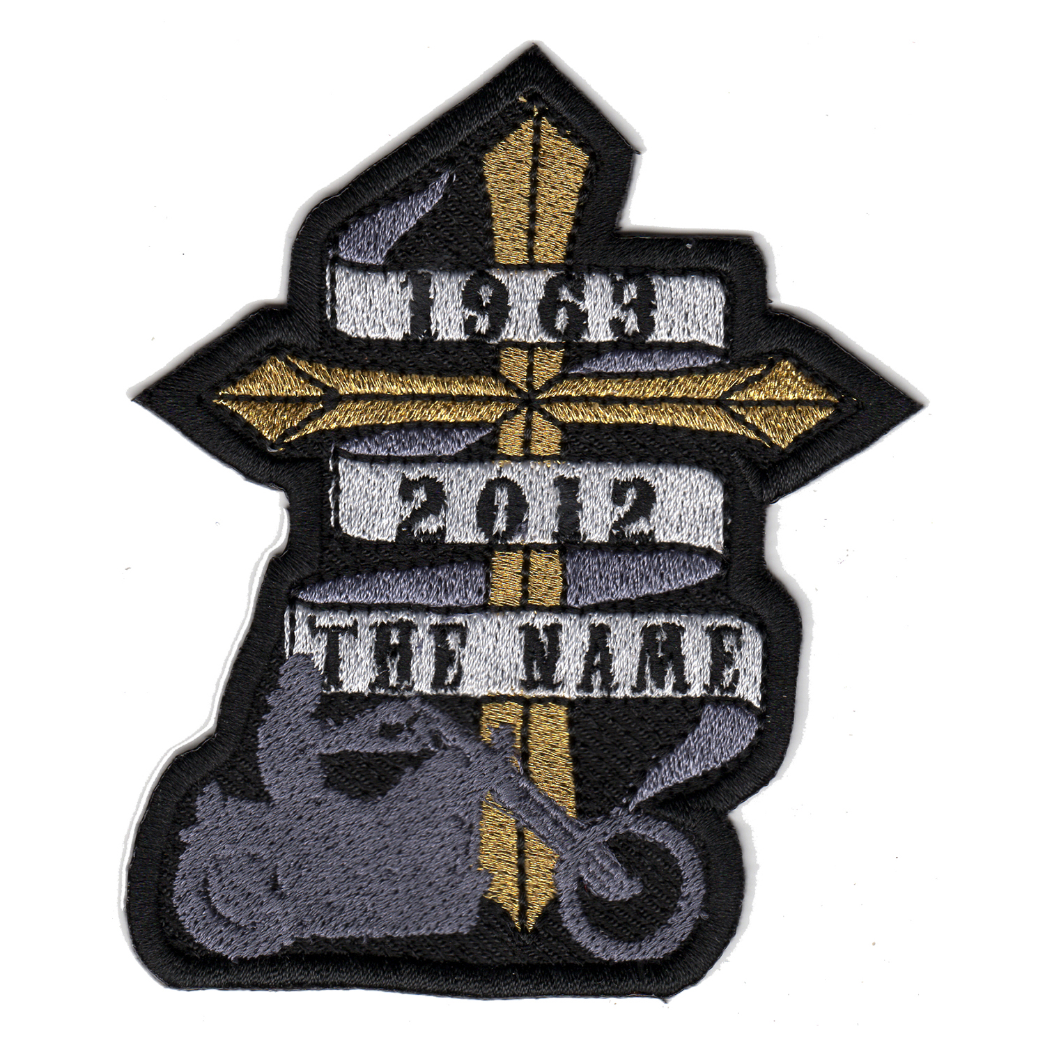 Biker Memorial Cross Custom Embroidered Patch