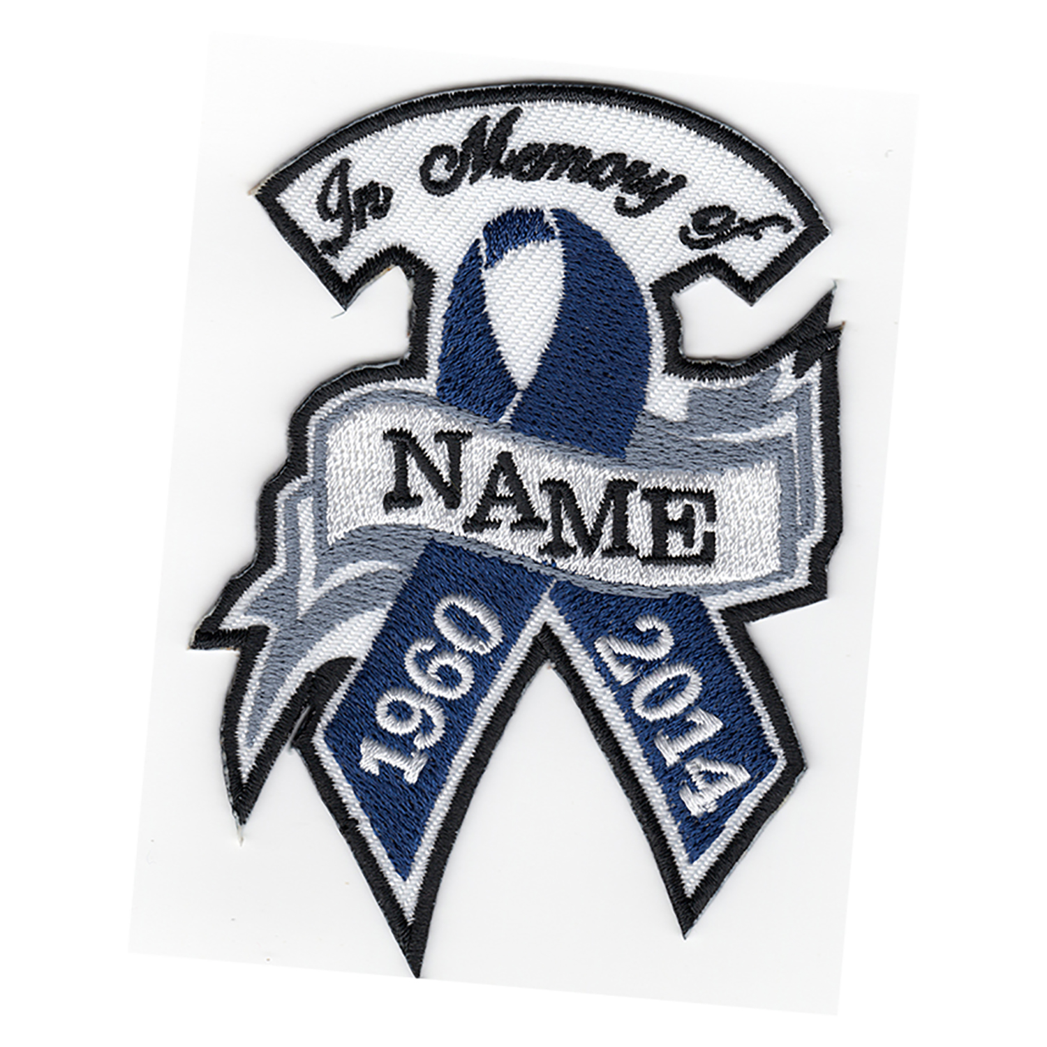 INDIGO RIBBON MEMORY... Biker Custom patch