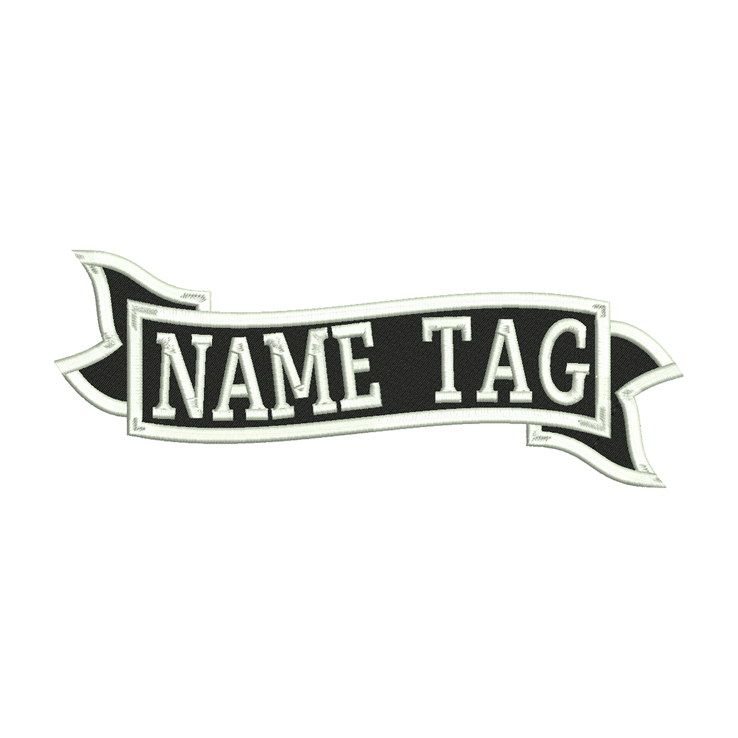 Custom Banner Name Tag Biker Vest Patch