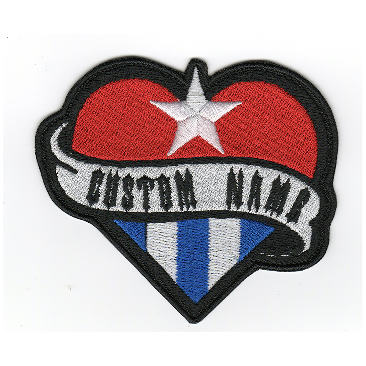 Cuban Heart Flag Custom Name Tag Biker Vest Patch