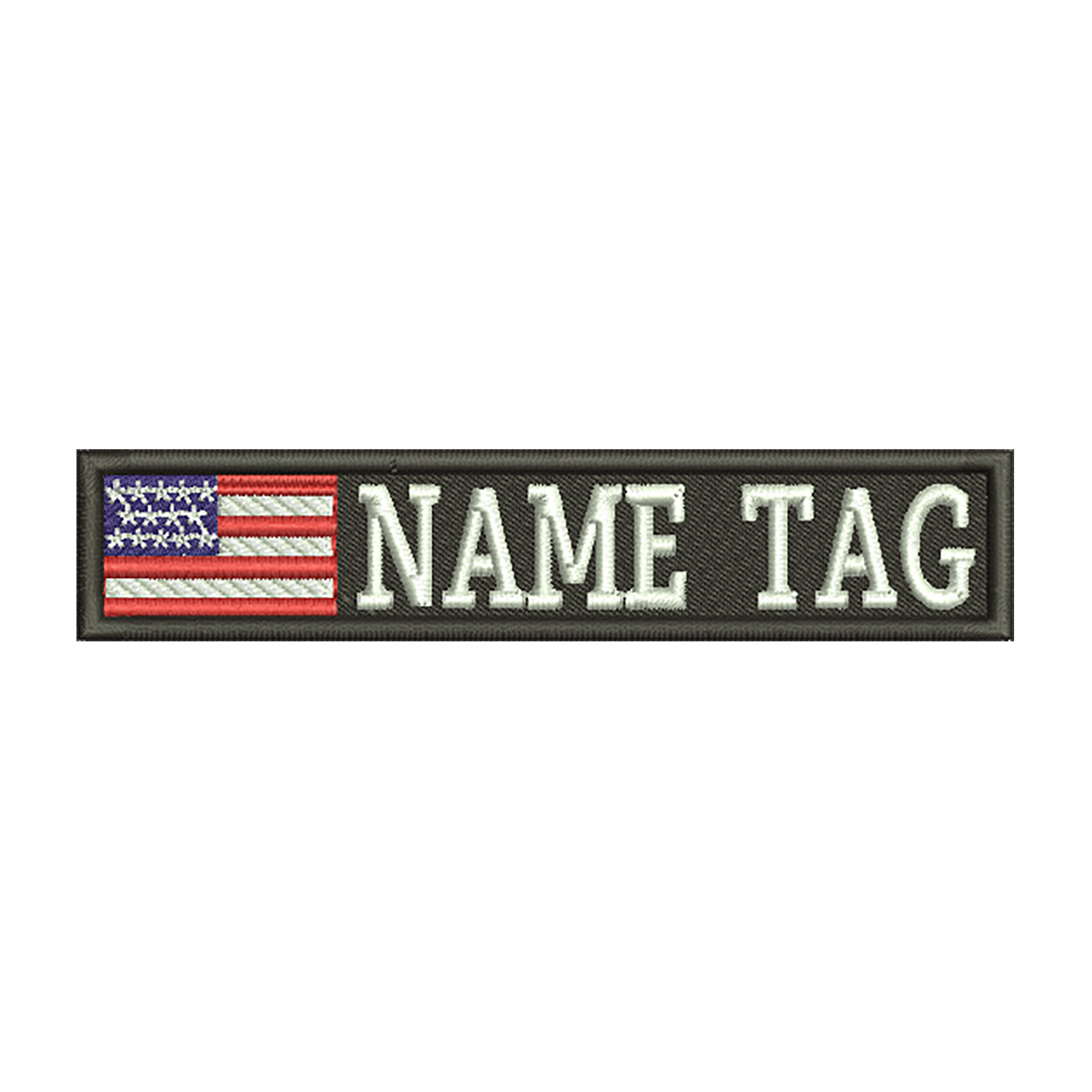 USA Flag Custom Name Tag Biker Vest Patch