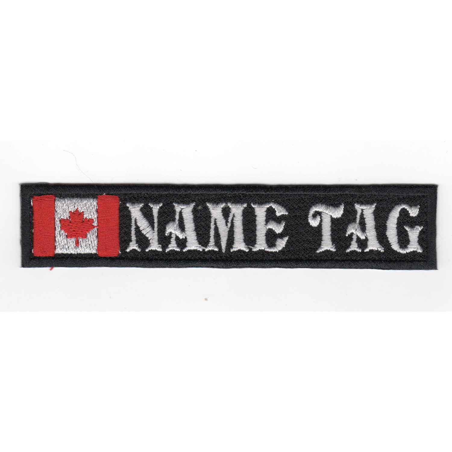 Canadian Flag Custom Name Tag Biker Vest Patch