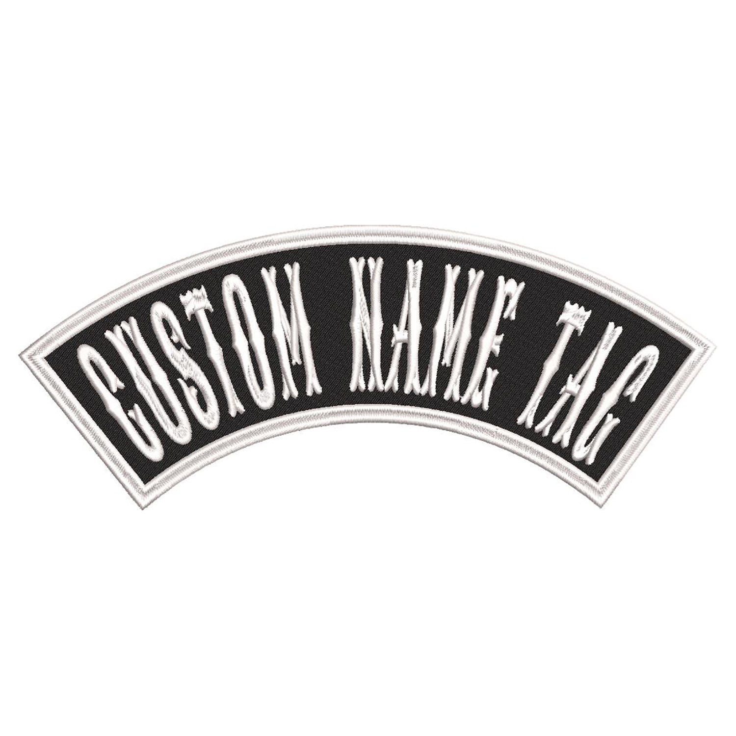 4 inches Mini TOP Rocker Custom Name Tag Biker Patch