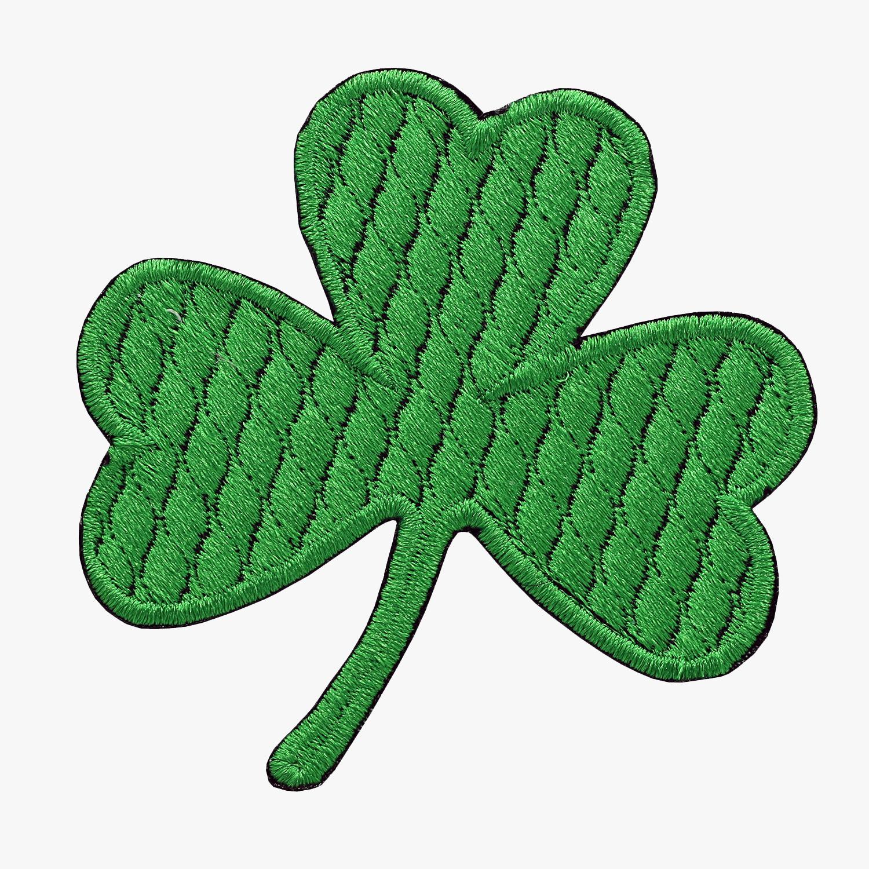 IRISH CLOVER EMBROIDERY BIKER PATCH