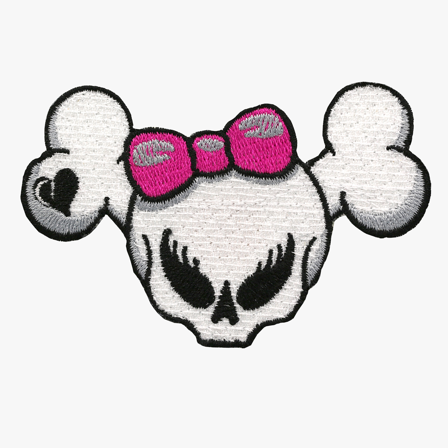 GIRL SKULL BROKEN HEART BIKER PATCH