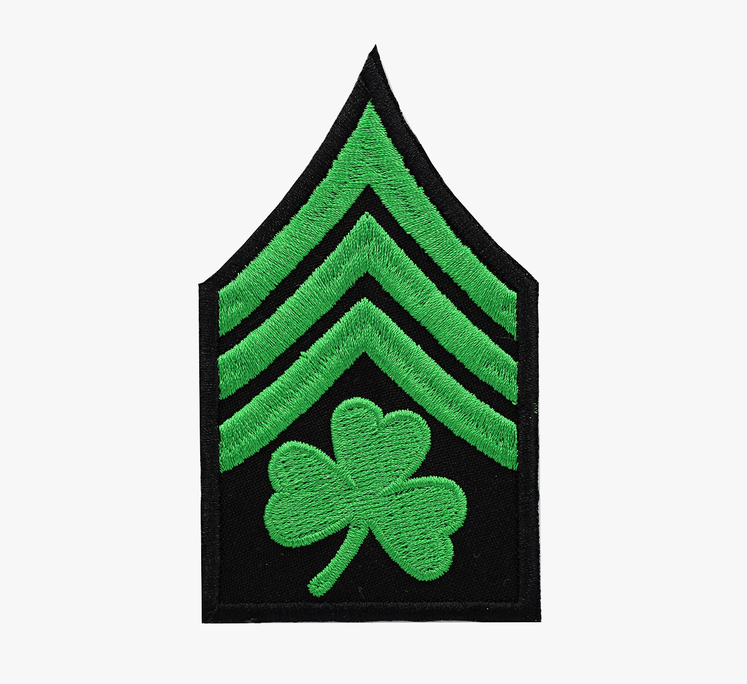 IRISH SHAMROCK SERGEANT MILITARY CLOVER LUCKY PATCH