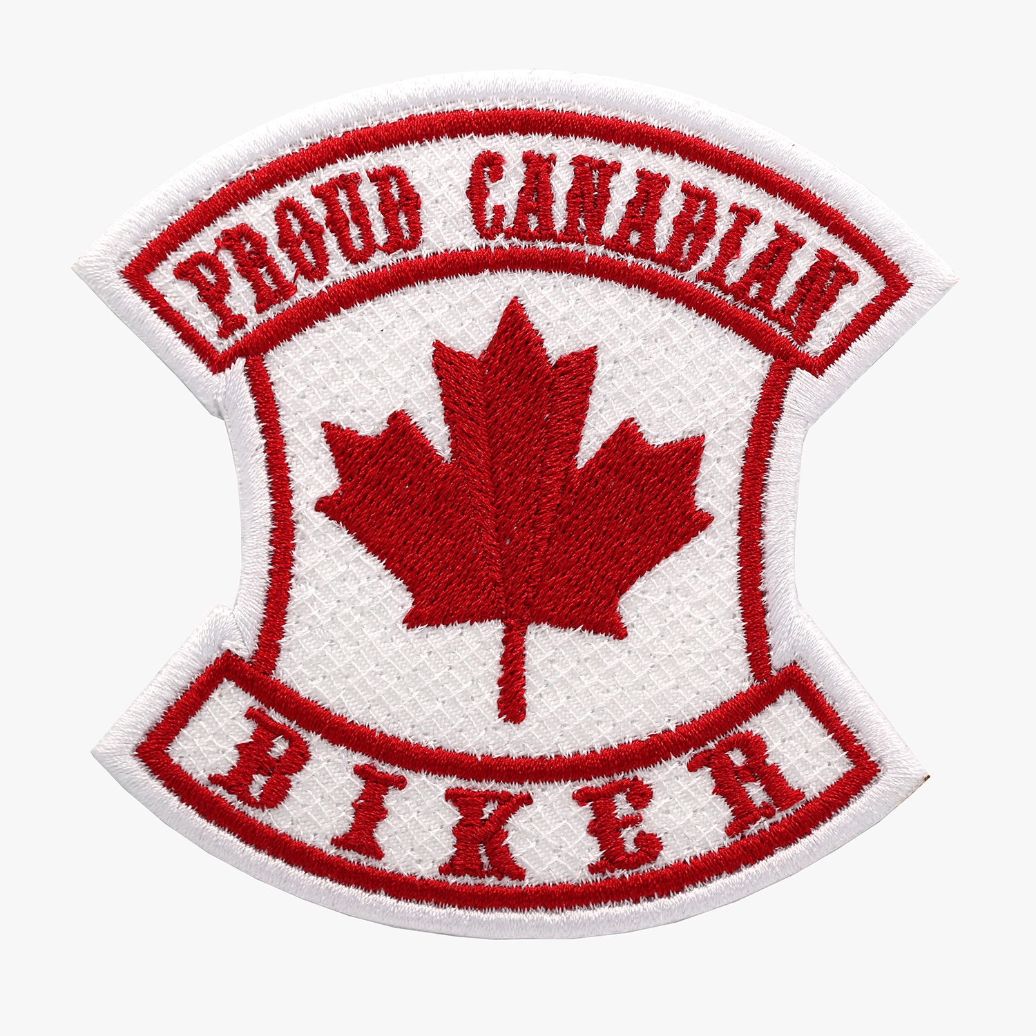 PROUD CANADIAN BIKER Embroidery Patch