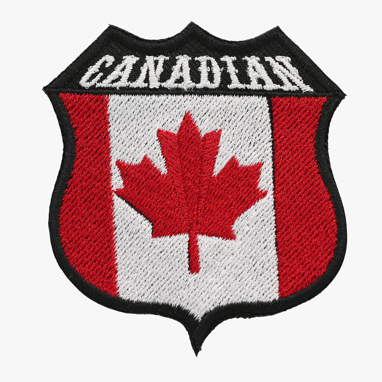 Canadian Embroidered Shield Biker Patch