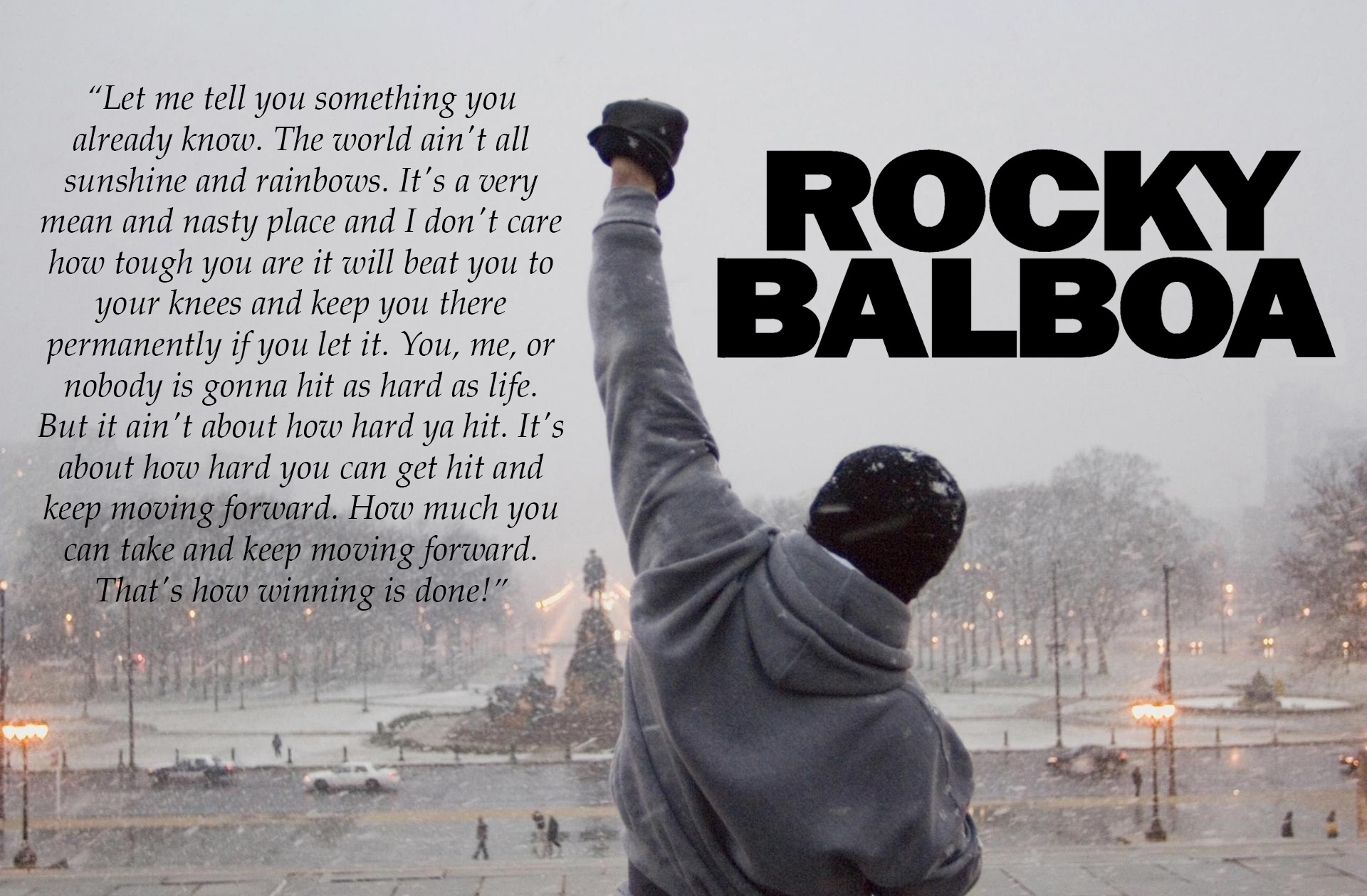 Rocky Balboa Quote New Poster Or Canvas Print