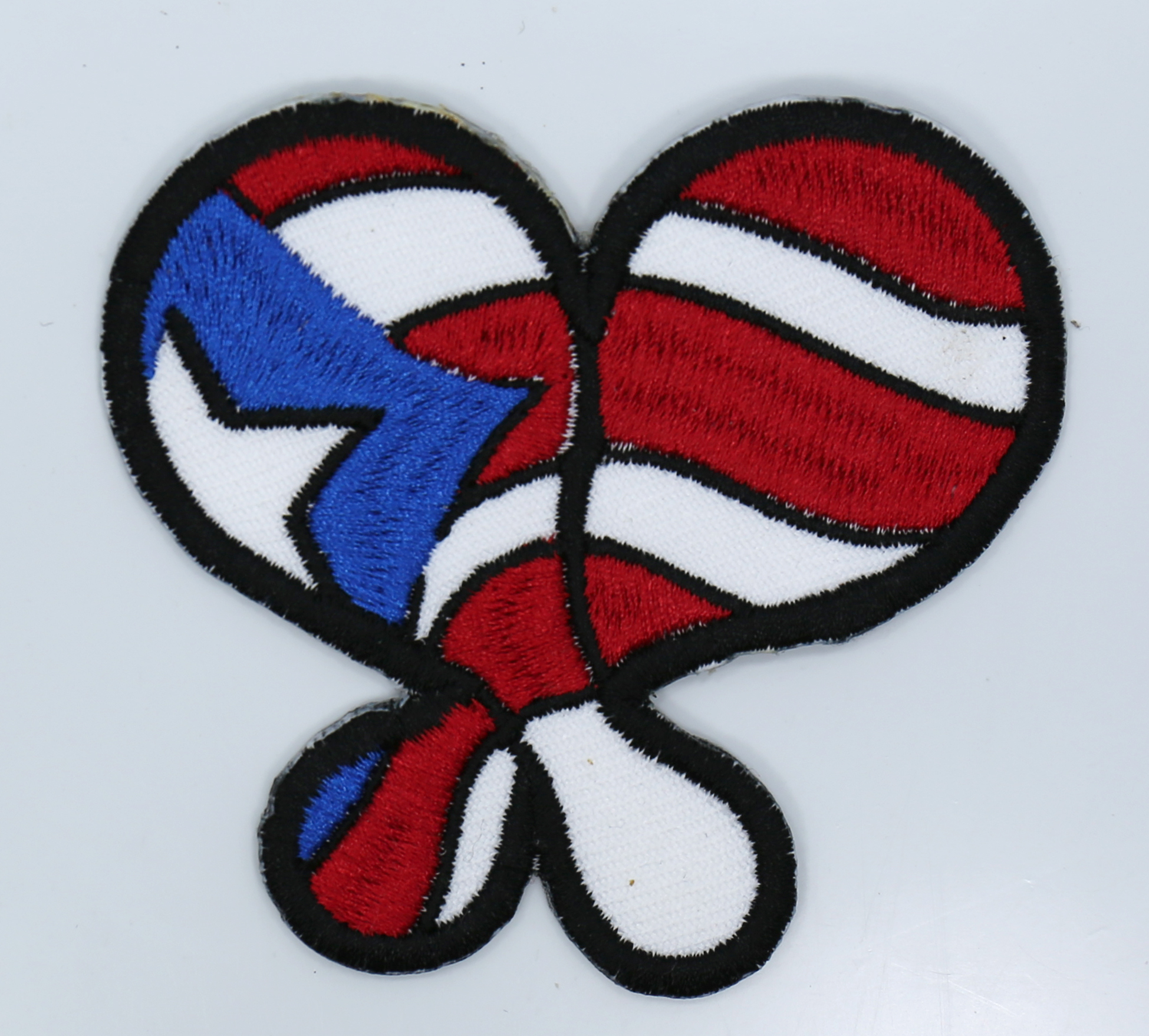 Puerto Rico Maracas Embroidered Biker Patch
