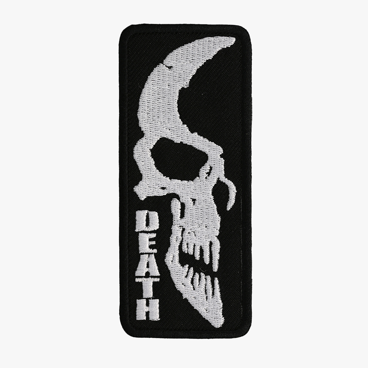 DEAD SKULL BIKER EMBROIDERY PATCH