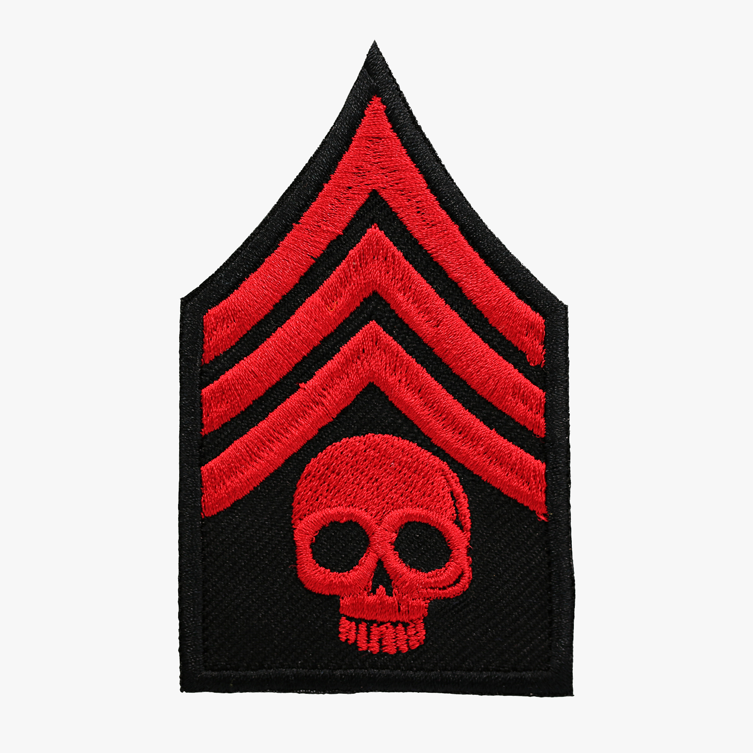 SERGEANT SKULLBIKER EMBROIDERY PATCH