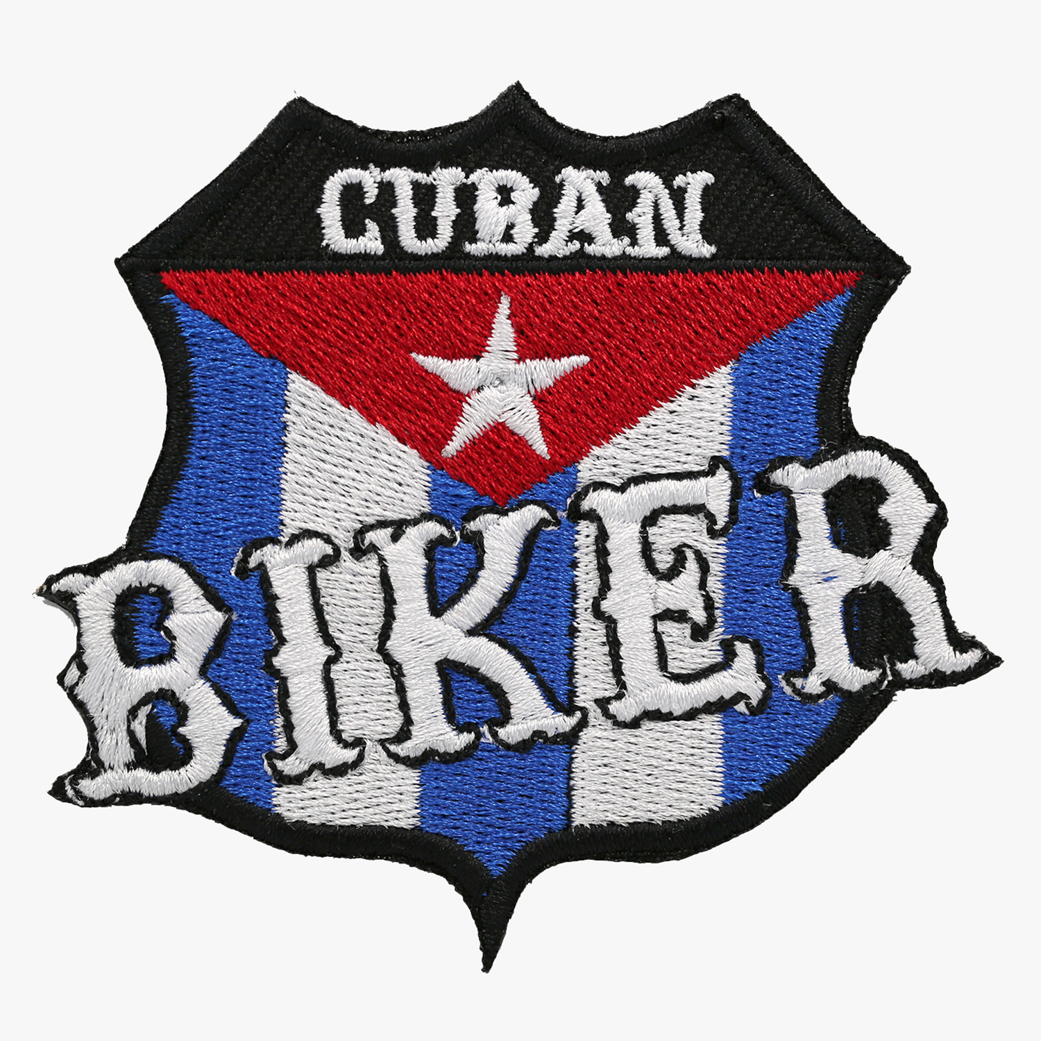 CUBAN BIKER FLAG EMBROIDERY PATCH