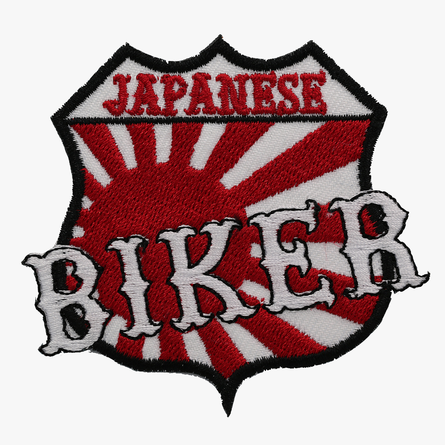 JAPANESE BIKER FLAG EMBROIDERY PATCH