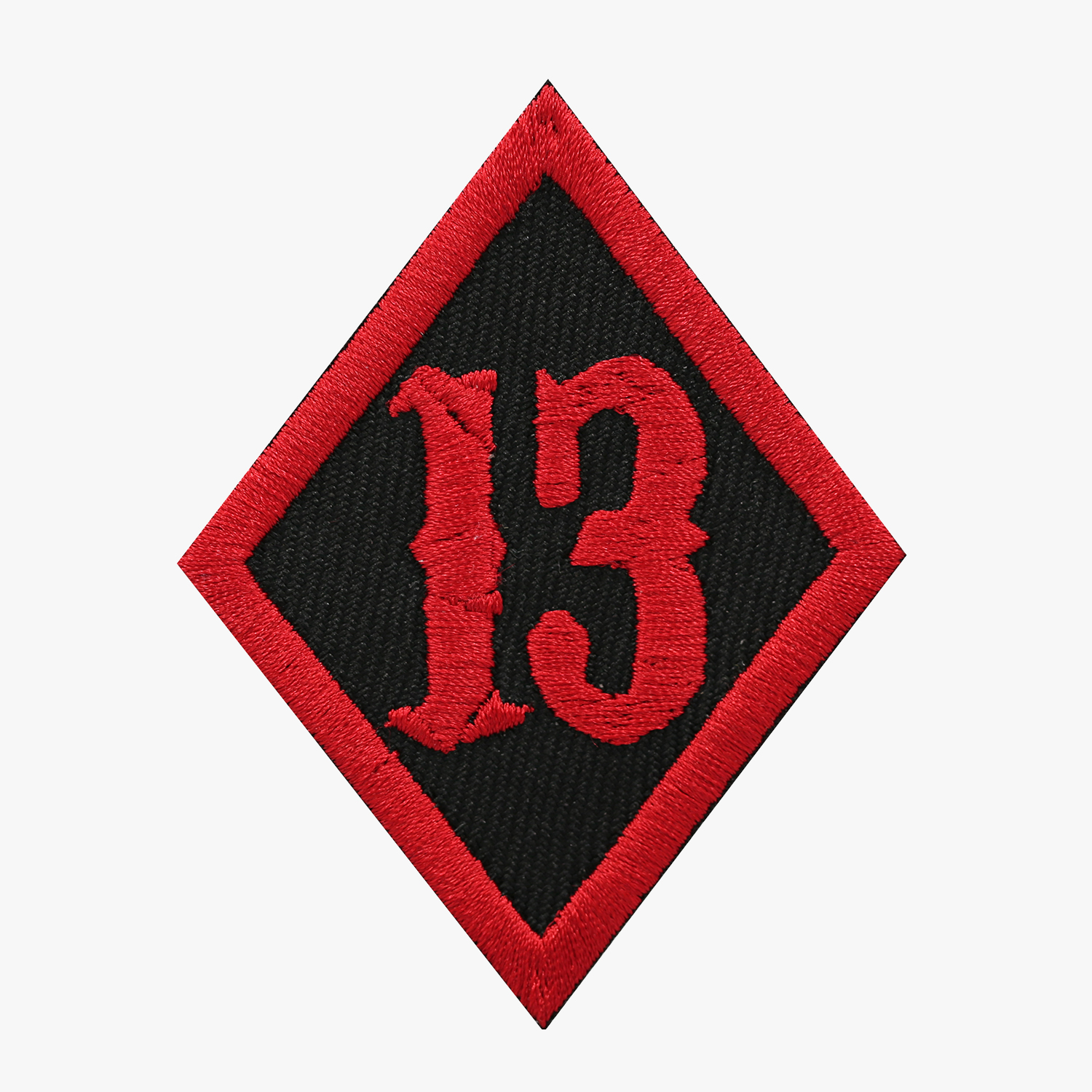 NUMBER 13 DIAMOND BIKER MC PATCH
