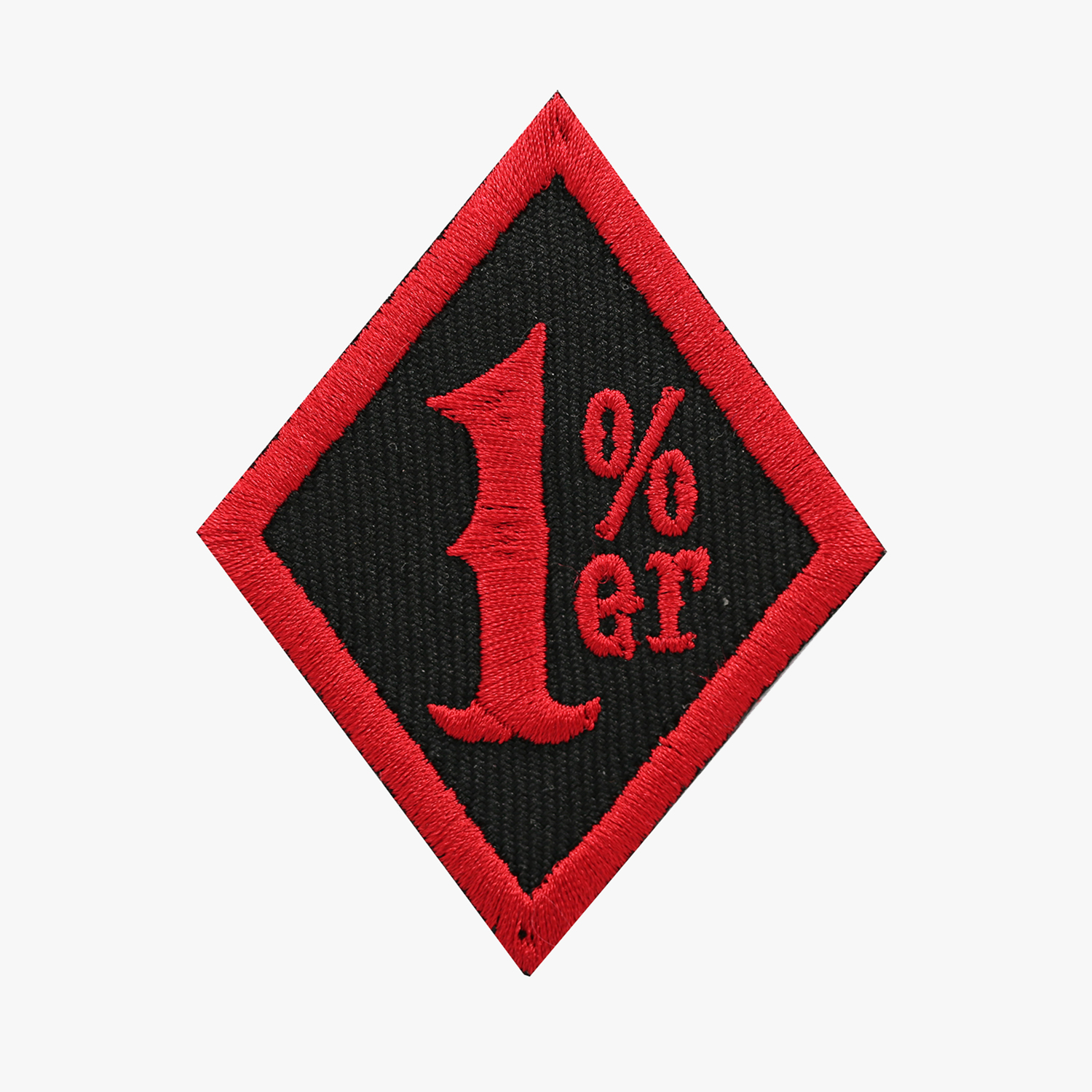 ONE PERCENT DIAMOND BIKER MC PATCH