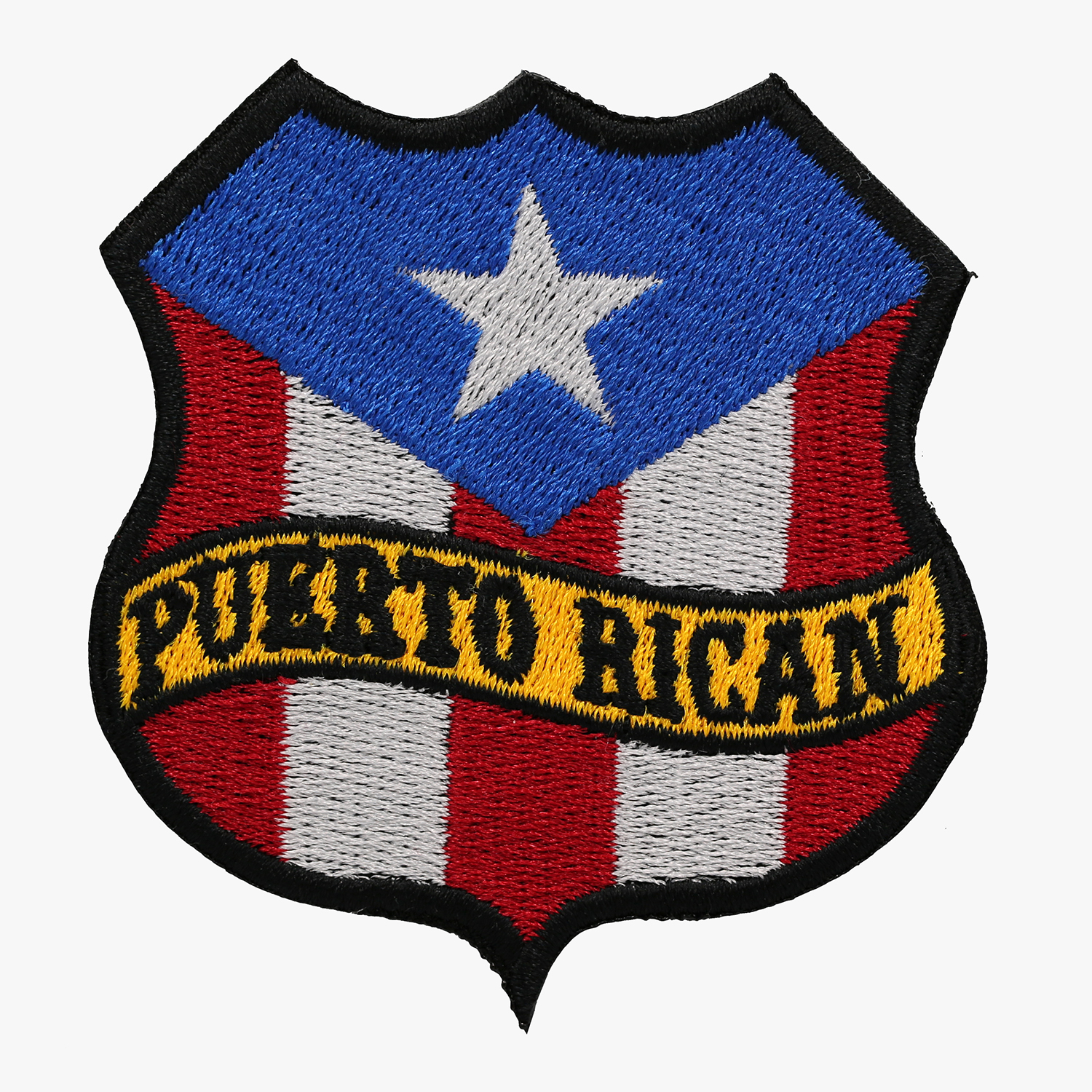 PUERTO RICAN FLAG BANNER SHIELD BIKER MC PATCH