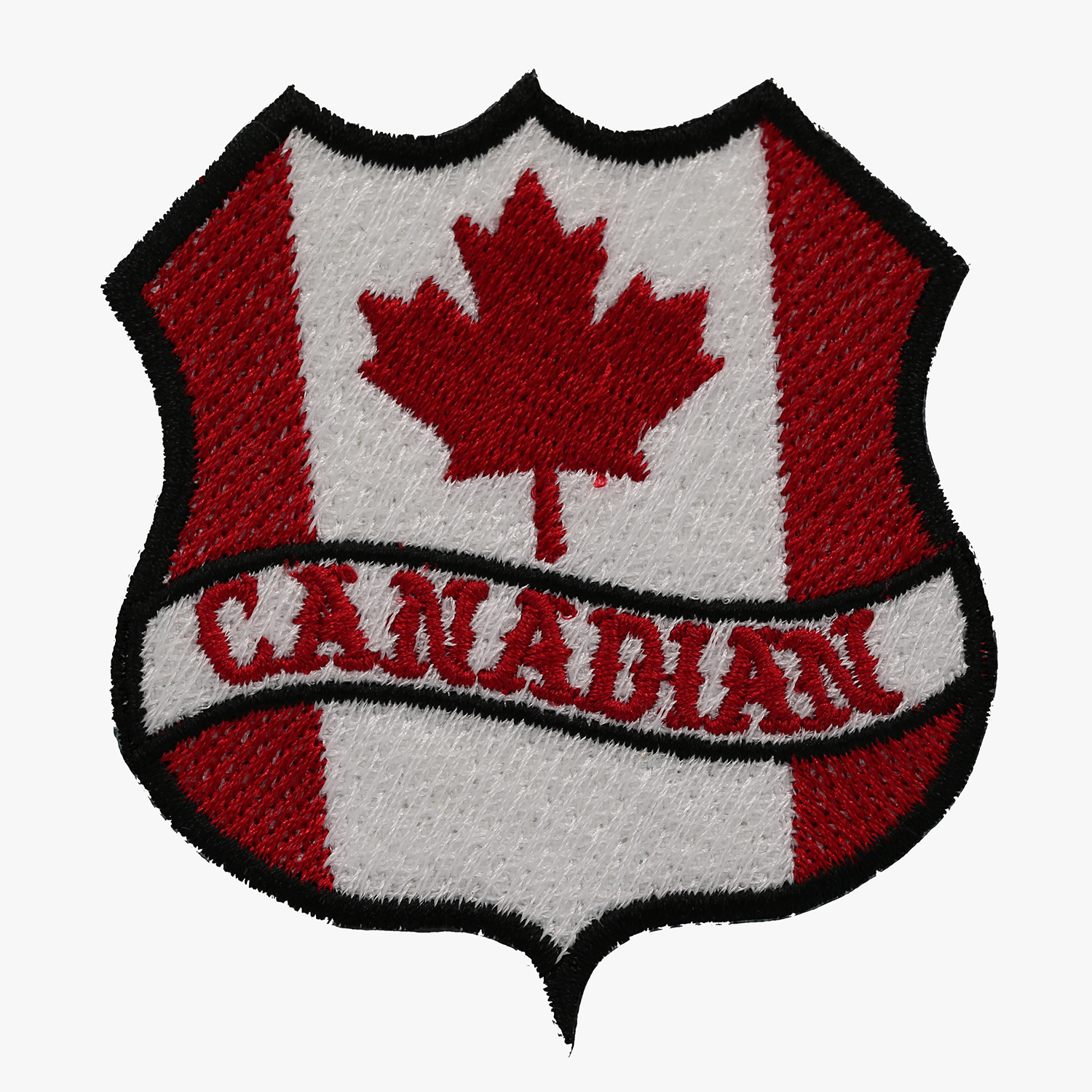 CANADIAN FLAG BANNER SHIELD BIKER MC PATCH