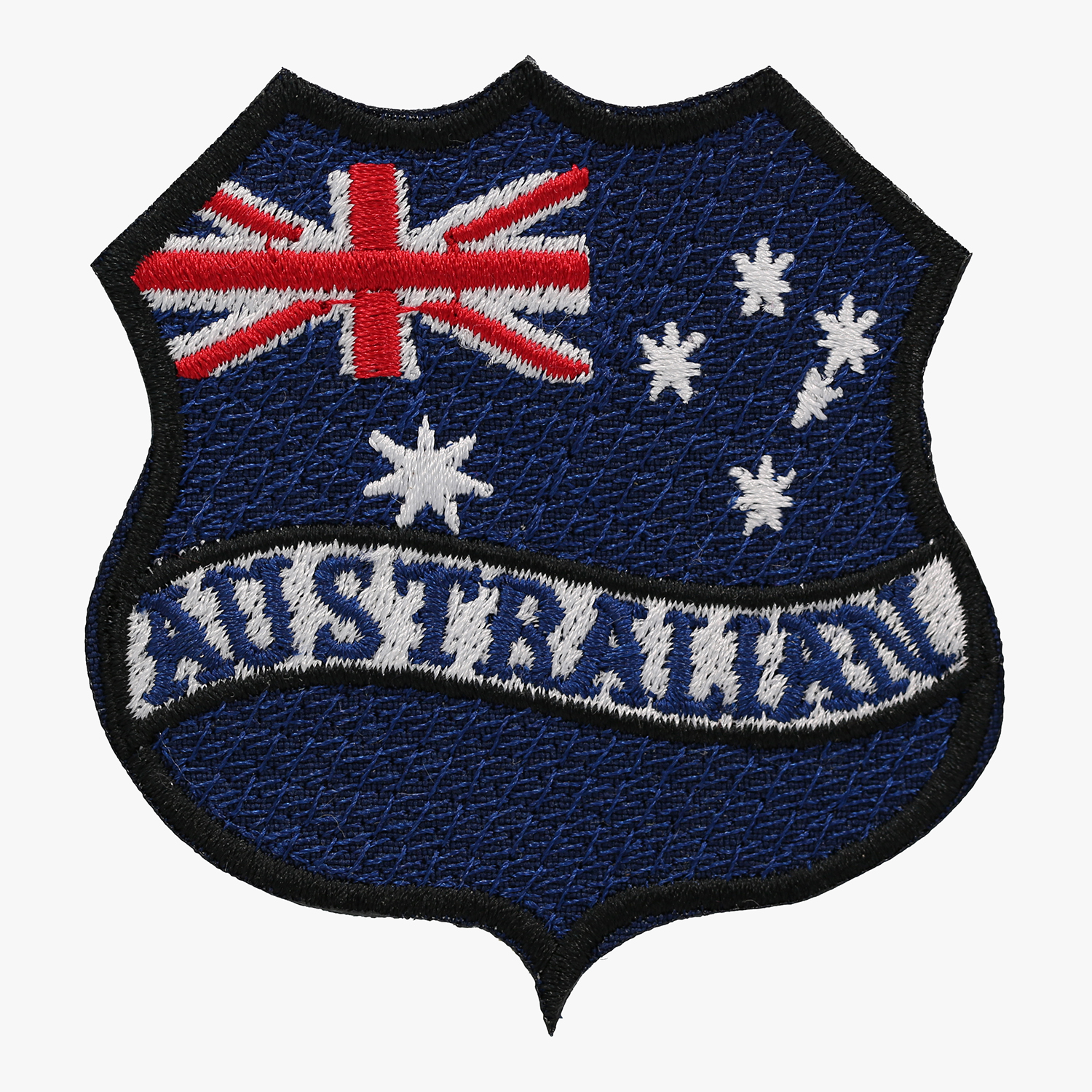 AUSTRALIAN FLAG BANNER SHIELD BIKER MC PATCH