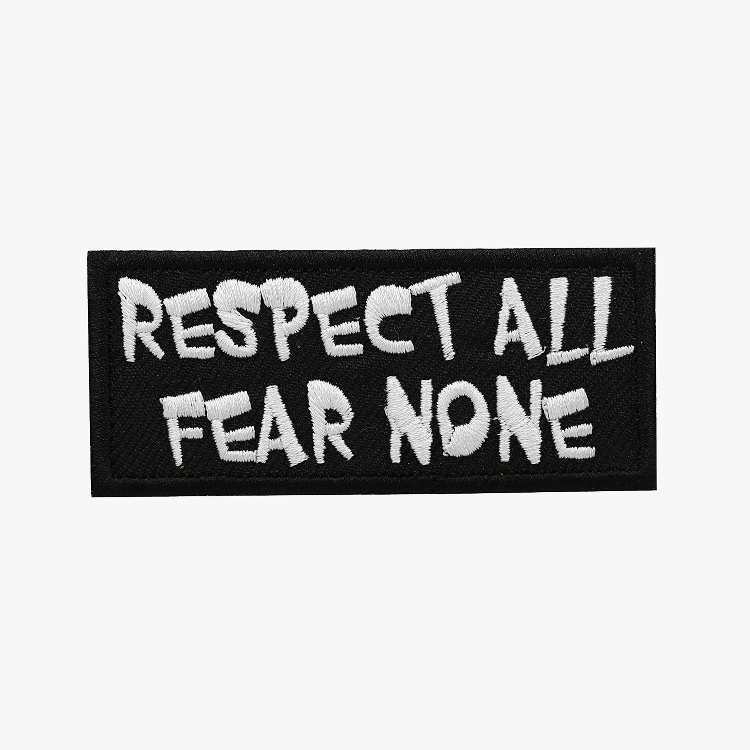 RESPECT ALL FEAR NONE BIKER EMBROIDERY PATCH