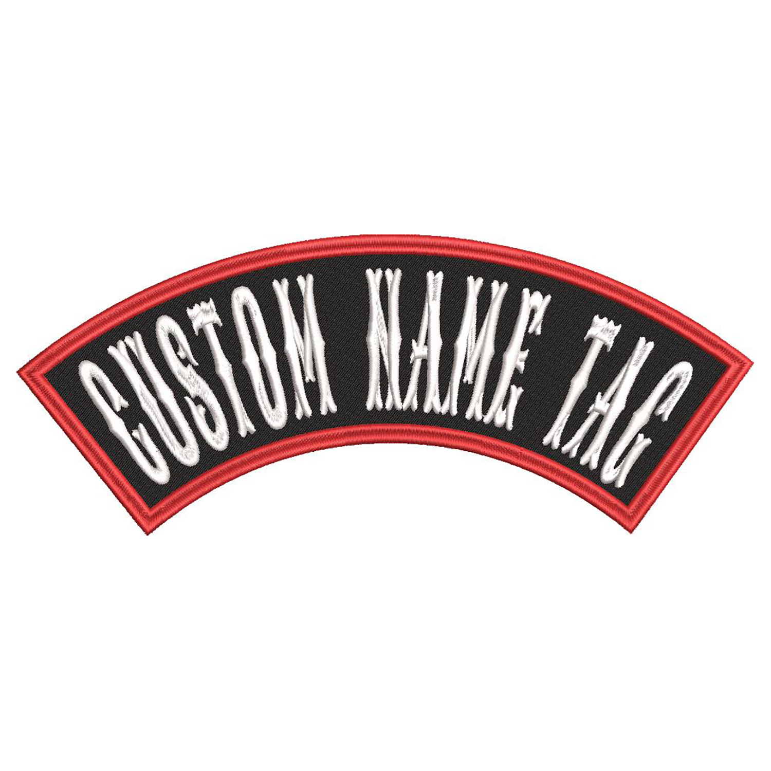 5 inches Mini TOP Rocker Custom Name Tag Biker Patch