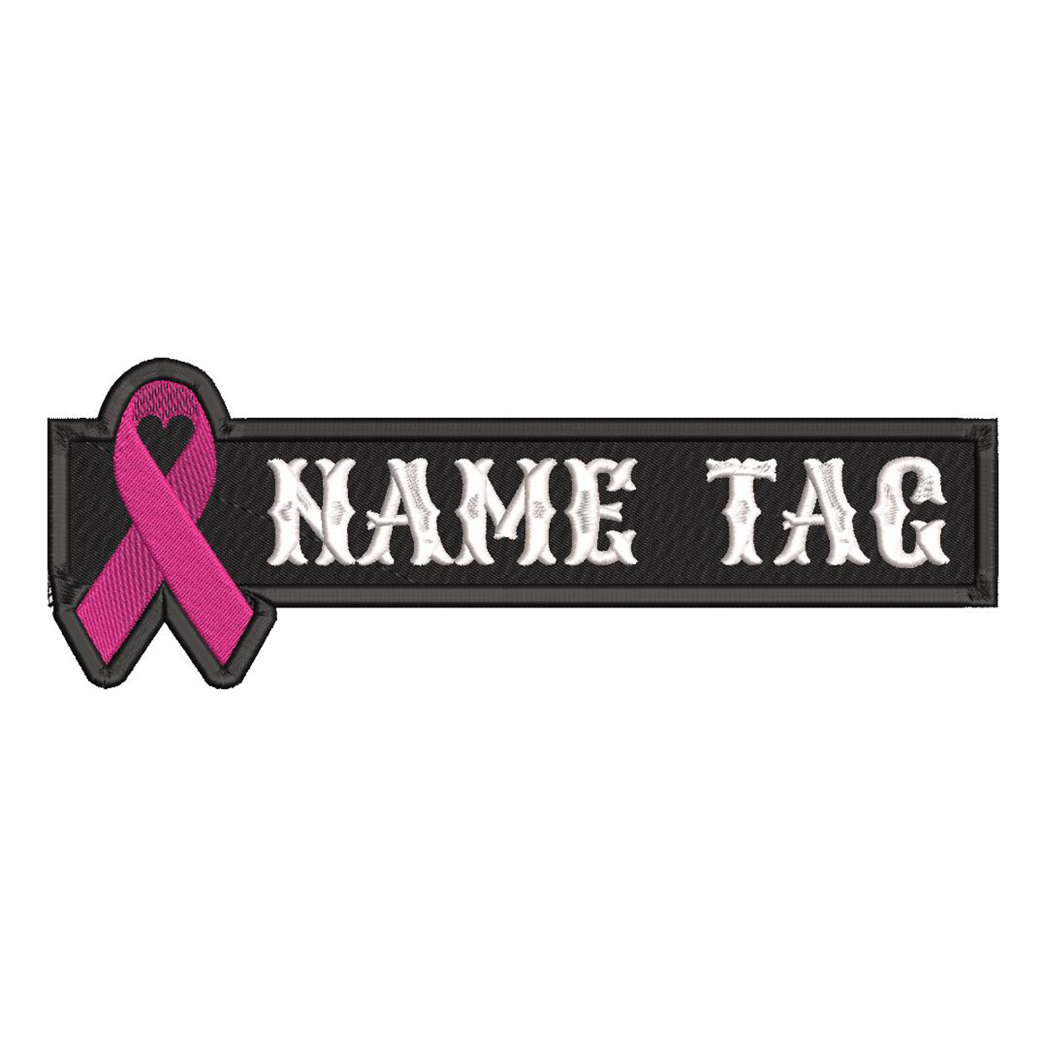 Ribbon Custom Name Tag biker Vest Patch