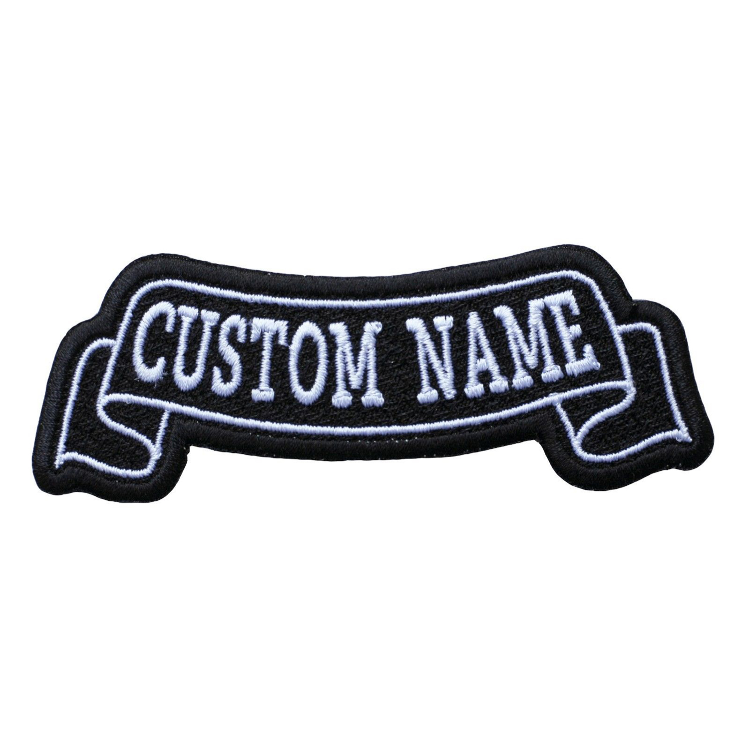 6 Inches Top Banner Custom Name Tag Biker patch