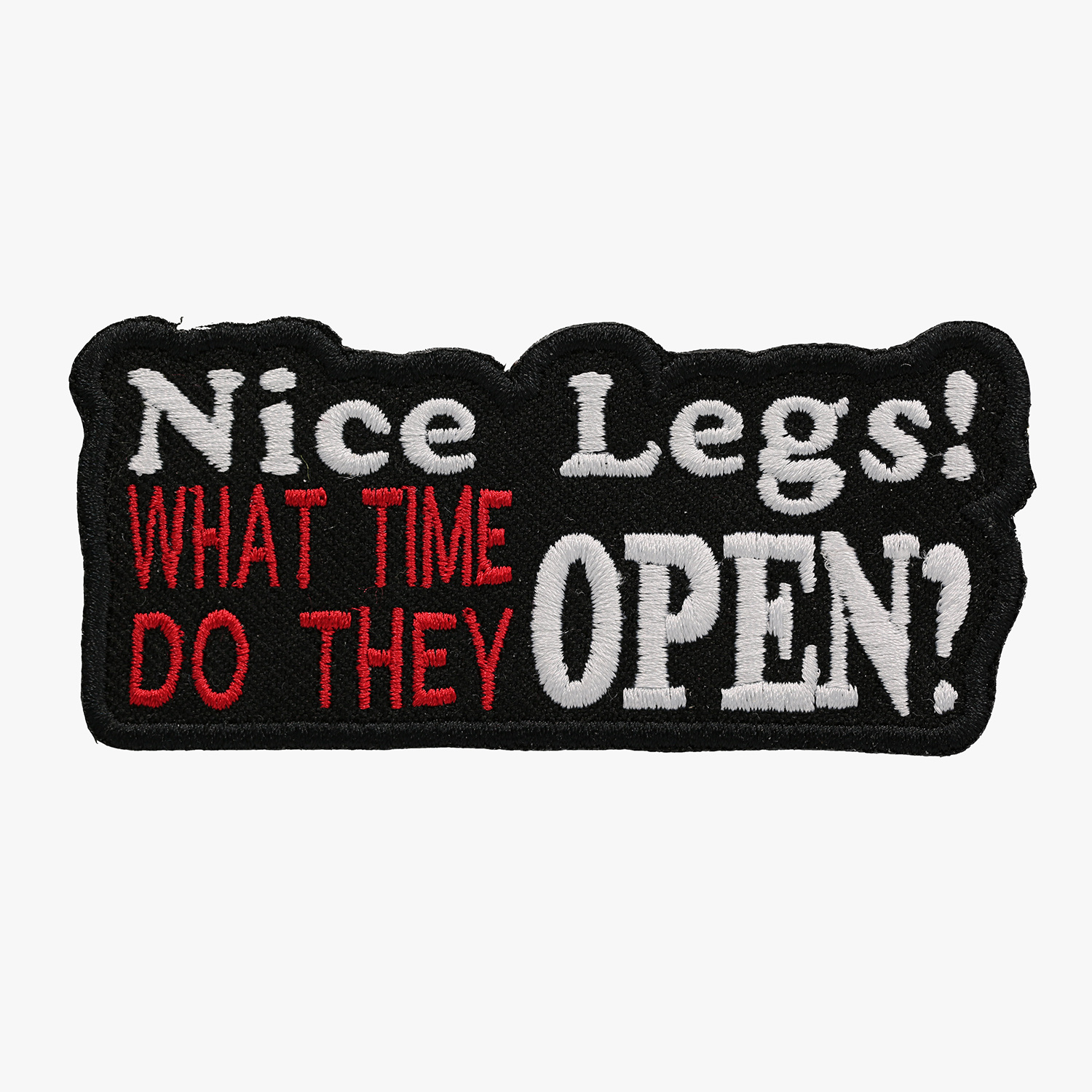 Nice Legs Embroidered Biker Saying Vest Funny Patch
