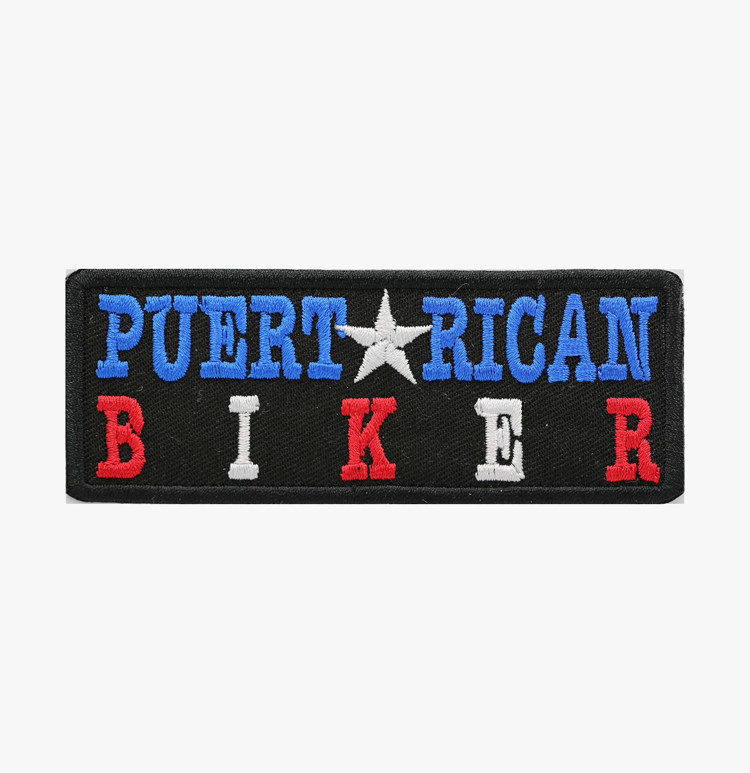 PUERTO RICAN BIKER EMBROIDERY BIKER PATCH