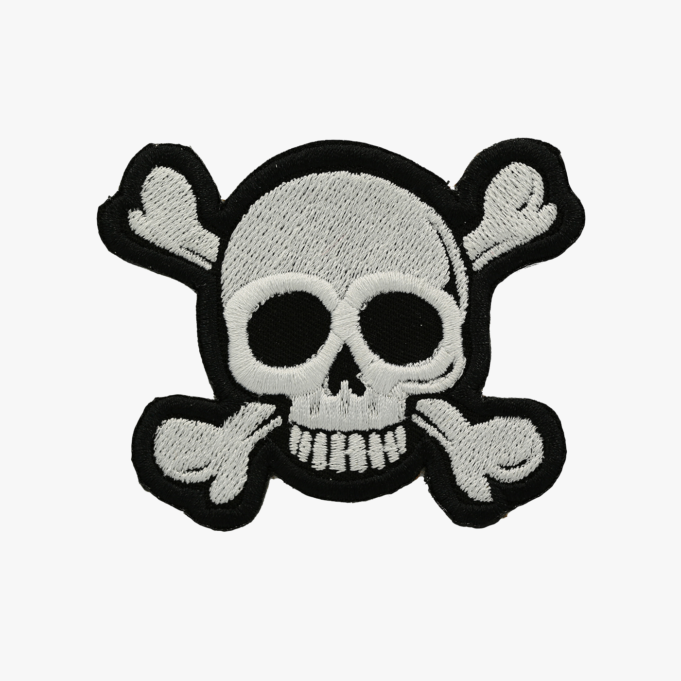 CROSS BONE SKULL EMBROIDERY BIKER PATCH