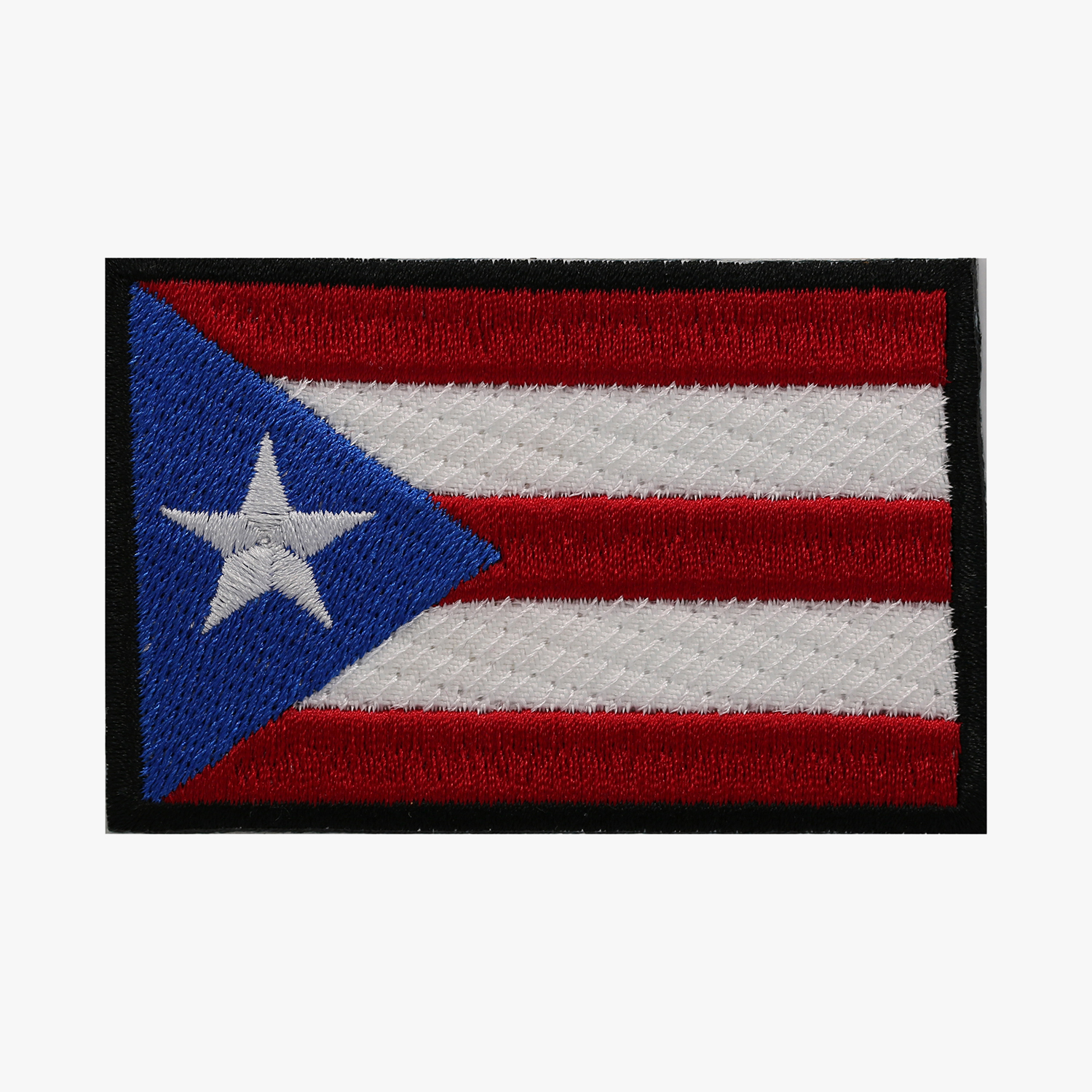 Puerto Rico Mini Flag Embroidery Biker Cap Patch