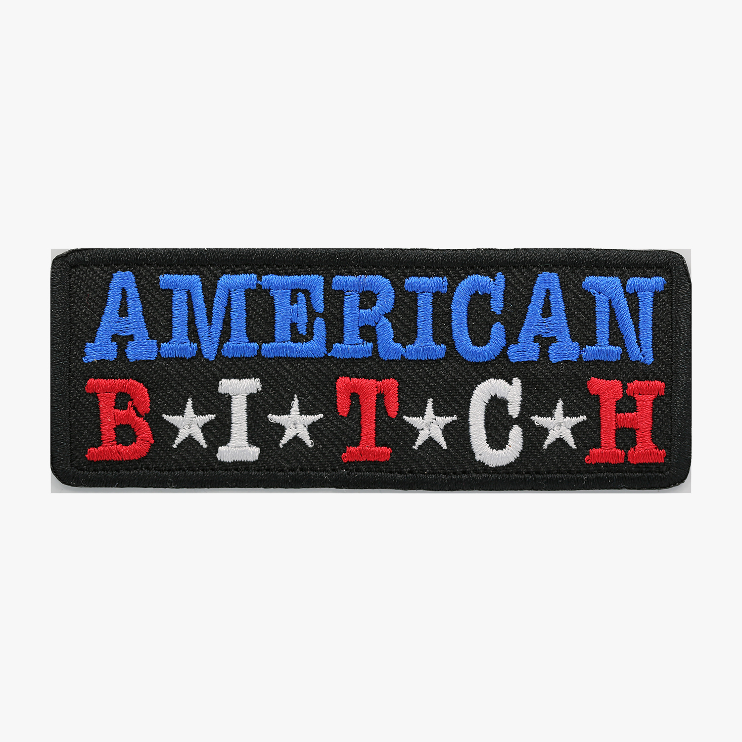 AMERICAN BITCH EMBROIDERY BIKER PATCH