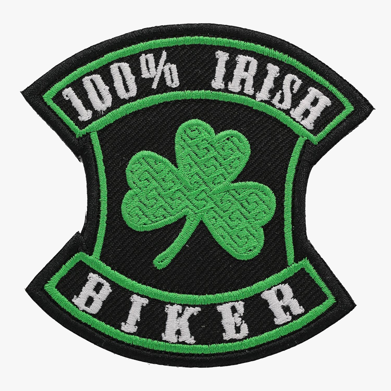 100 PERCENT IRISH BIKER Embroidered Patch