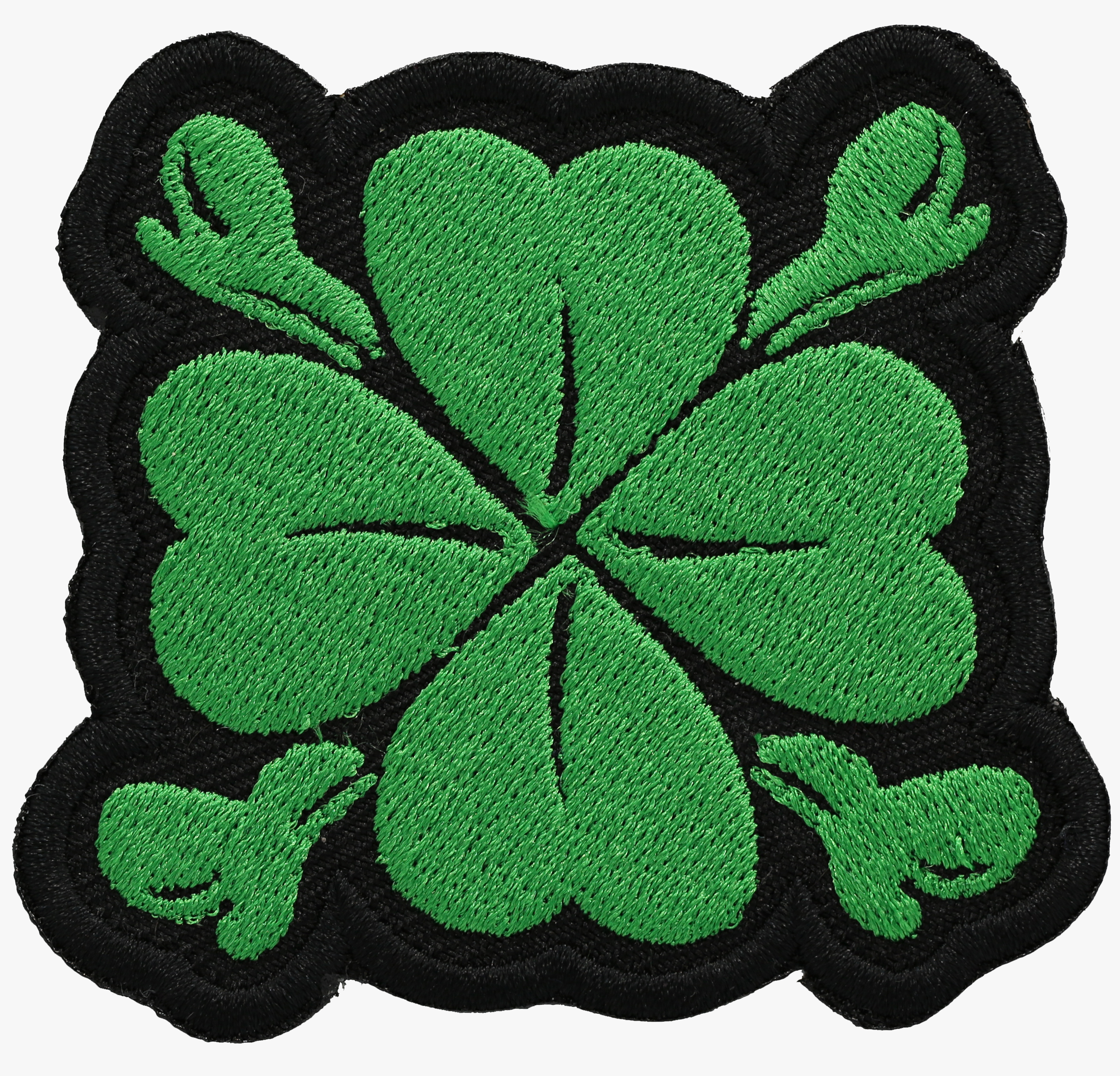 CROSS BONE IRISH GREEN CLOVER PATCH