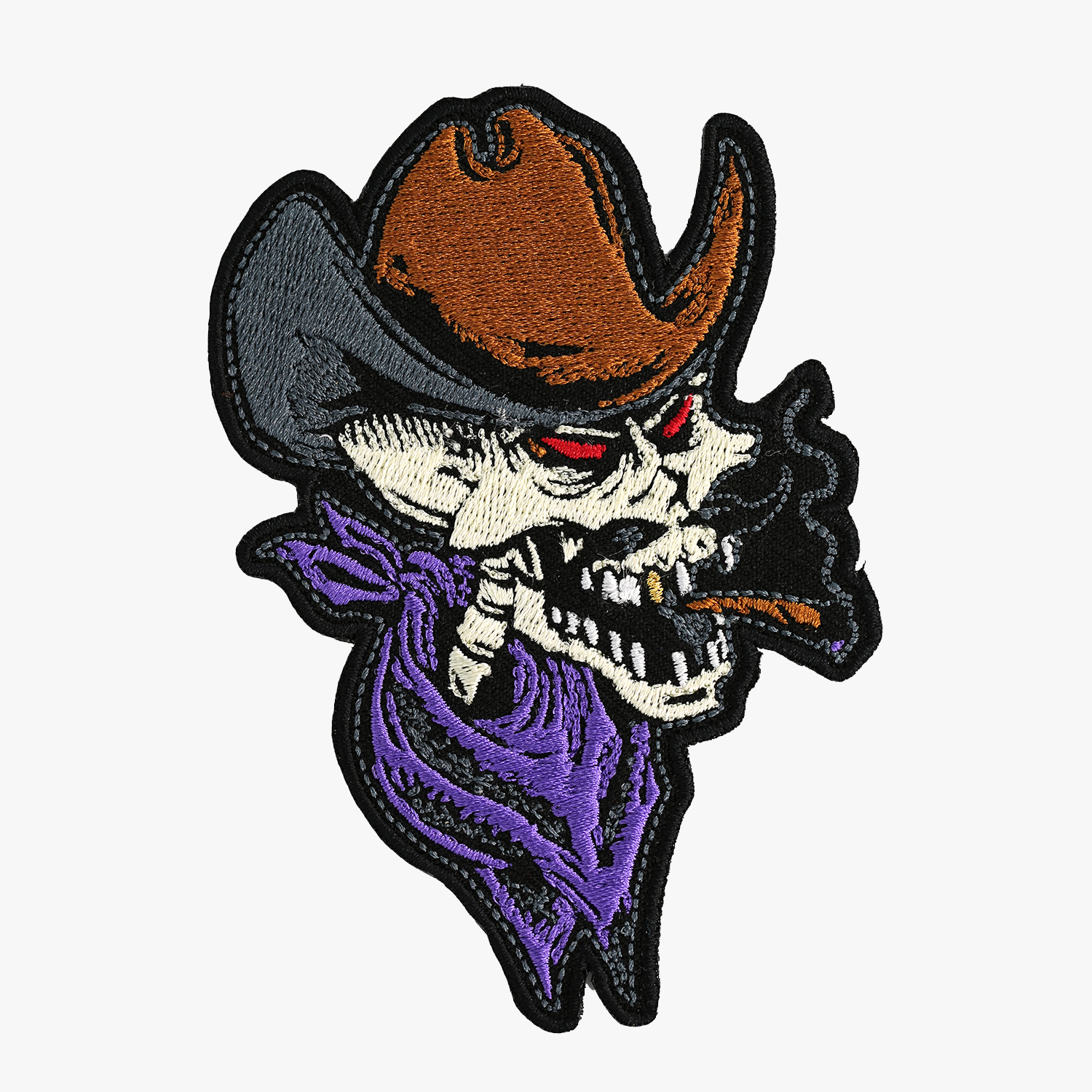 Bikers Cowboy Skull Embroidered PATCH