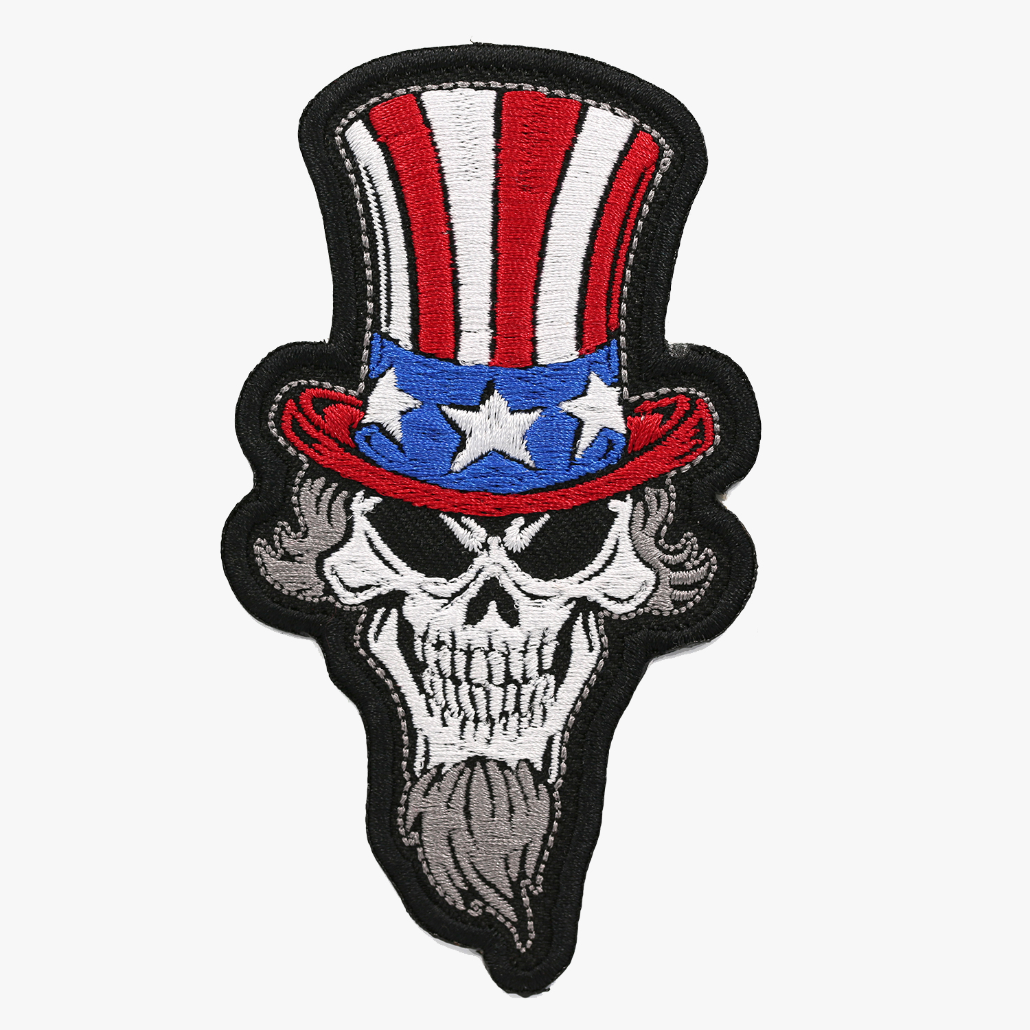 BIKERS UNCLE SAM SKULL embroidered PATCH