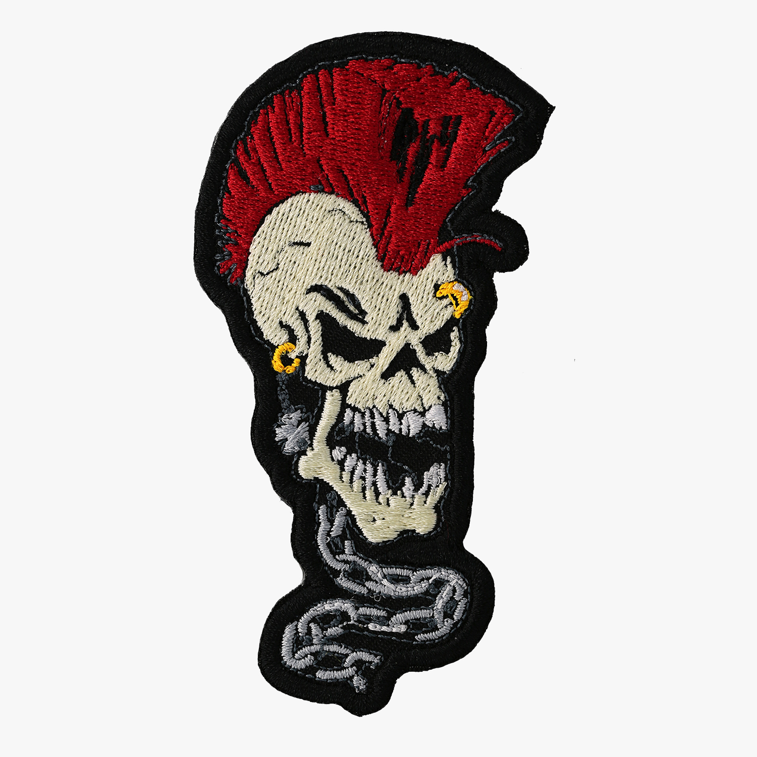 BIKER PUNK SKULL Embroidered Vest PATCH