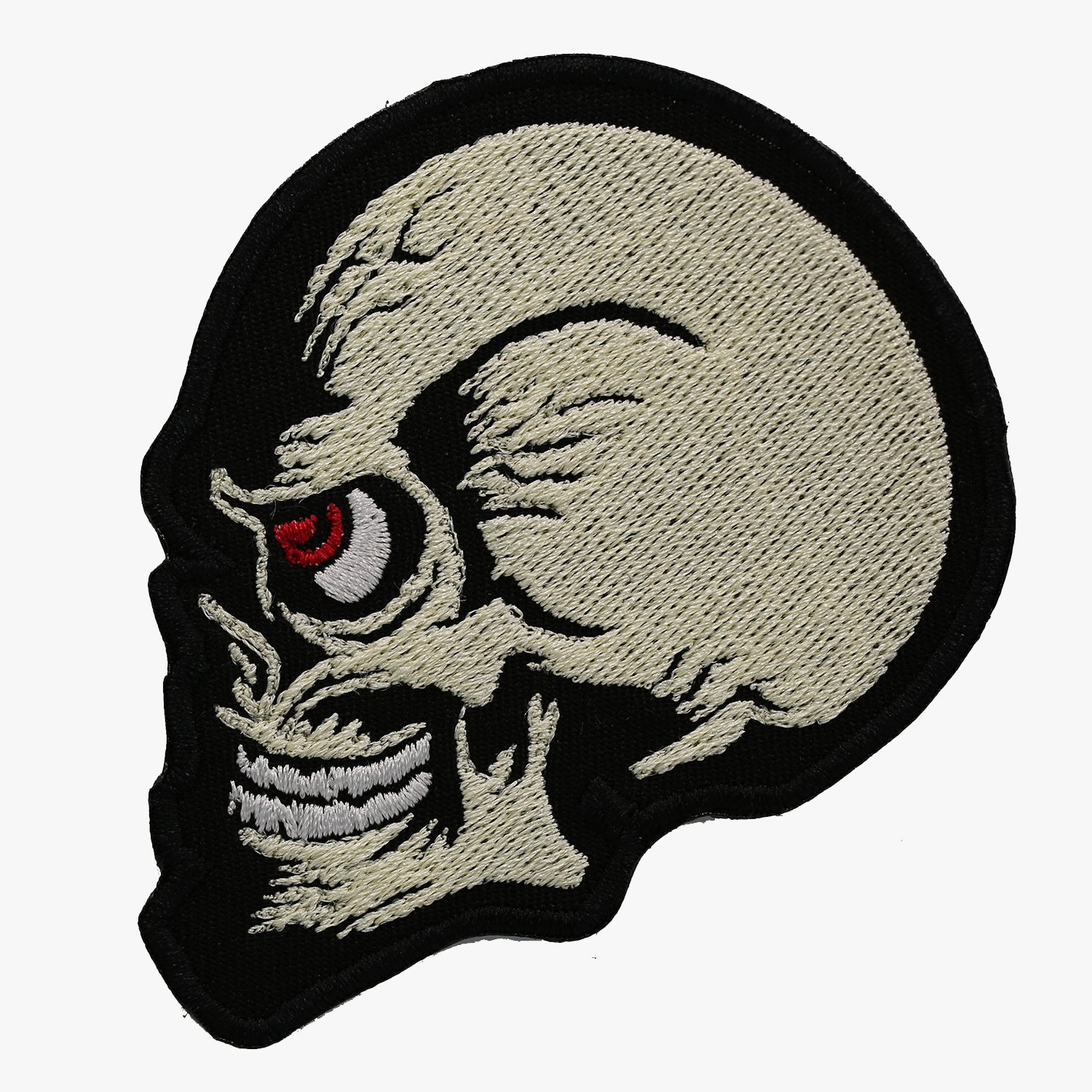 NC PATCHES BIKER SKULL Embroidered Vest Patch
