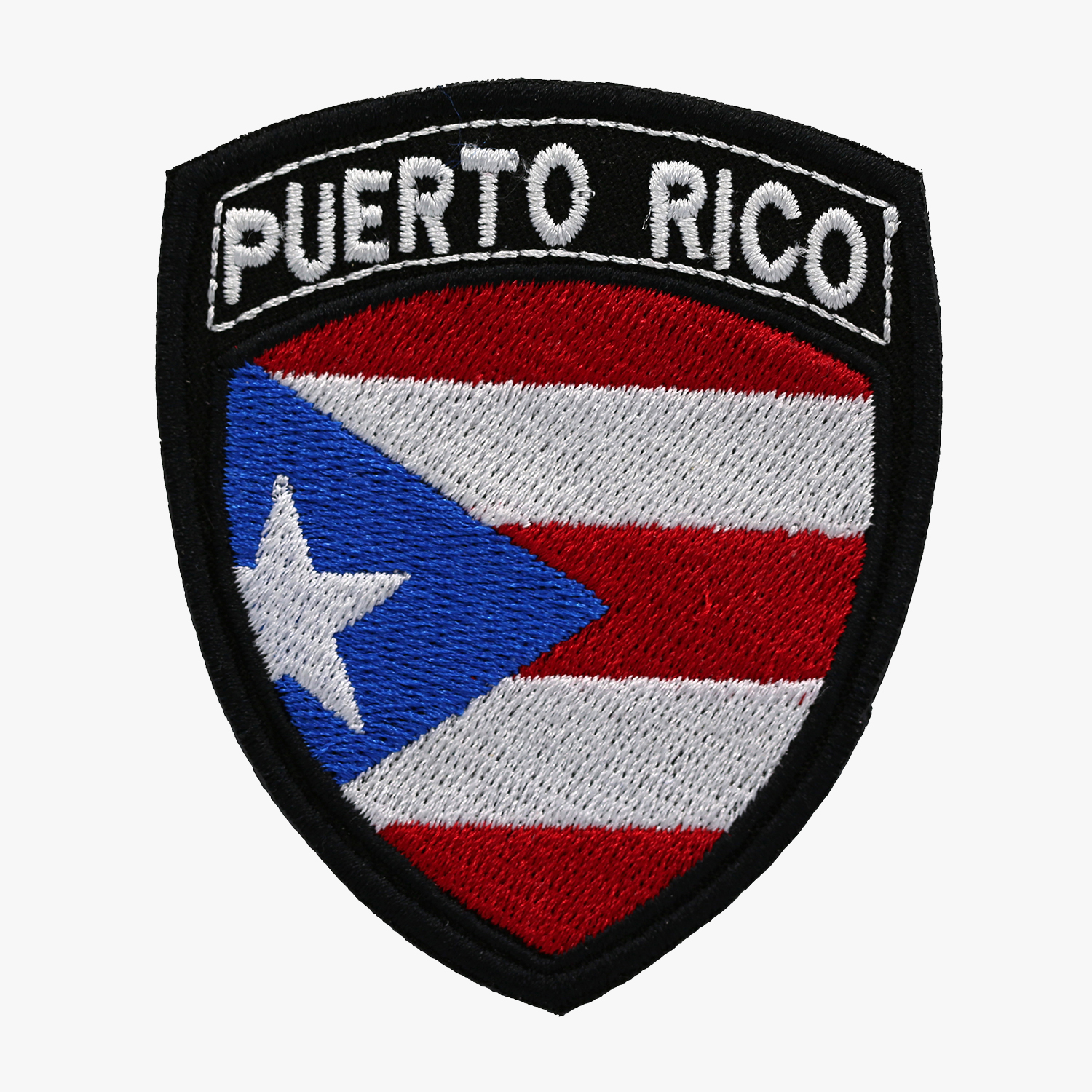 PUERTO RICO ARM SHIELD FLAG EMBROIDERED PATCH