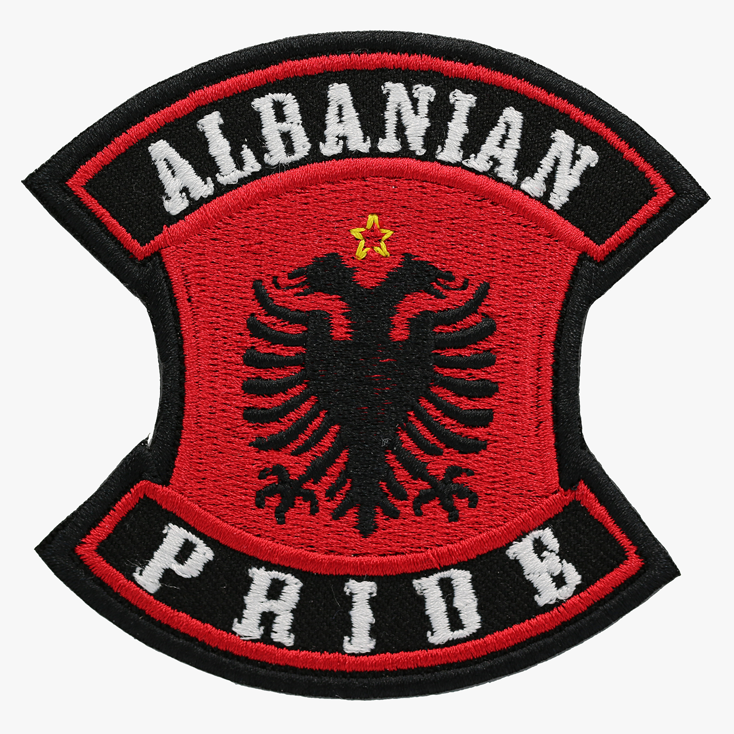 NC PATCHES ALBANIAN PRIDE EMBROIDERED BIKER PATCH