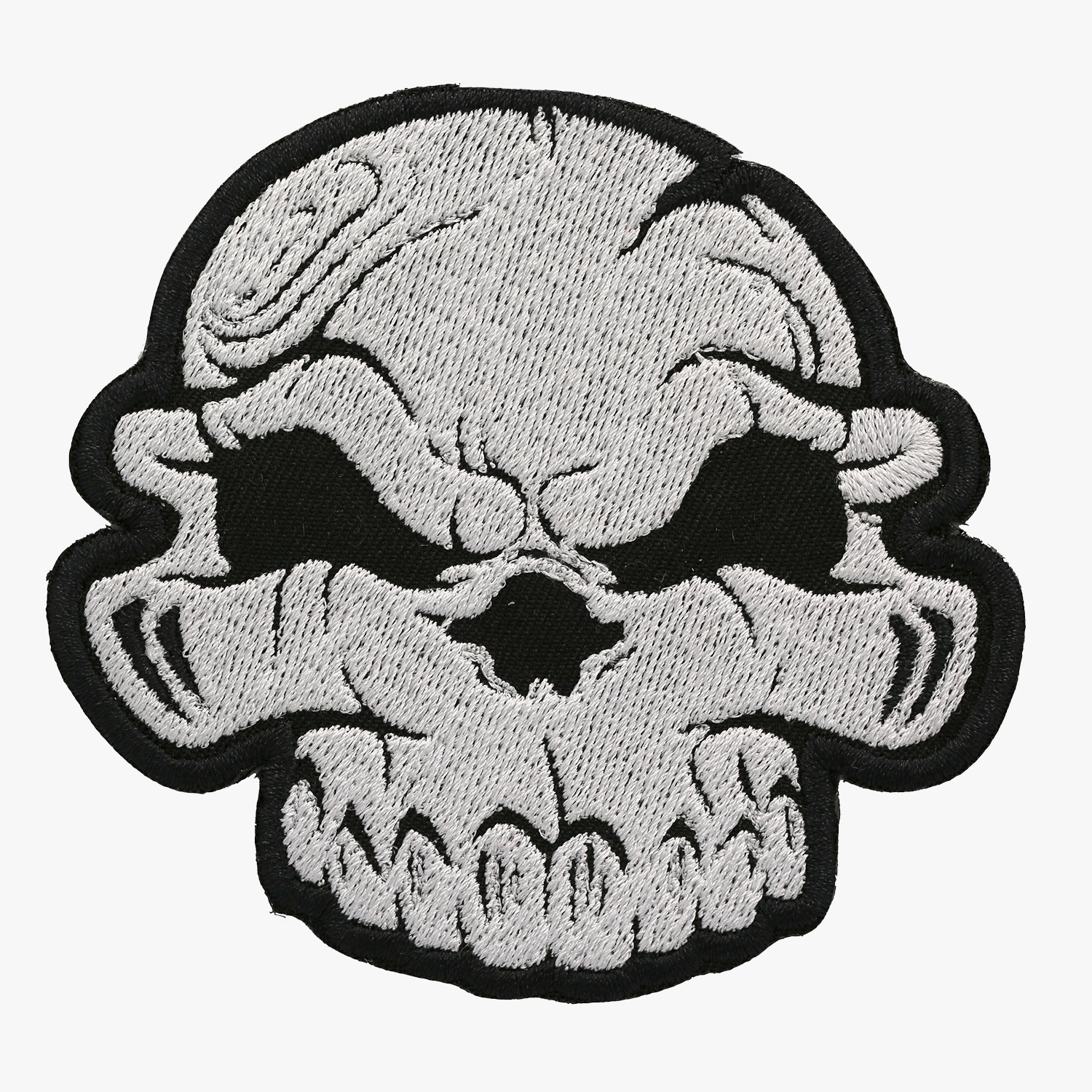 Skull Biker Vest Embroidered Patch