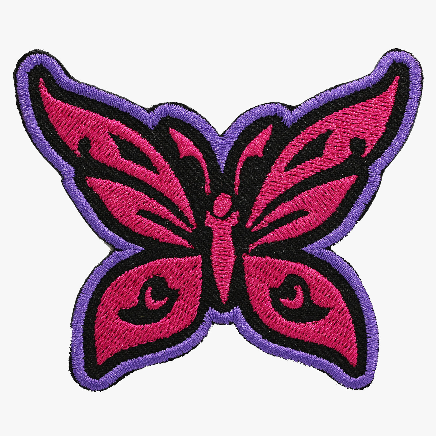 Butterfly Embroidery Women Biker Cut Patch