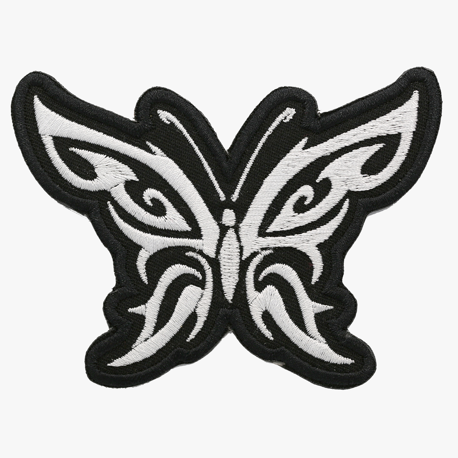 Butterfly Tribal Embroidery Women Biker Cut Patch
