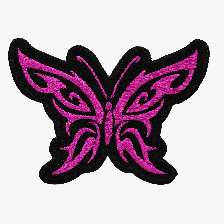 Butterfly Tribal Embroidery Women Biker Cut Patch