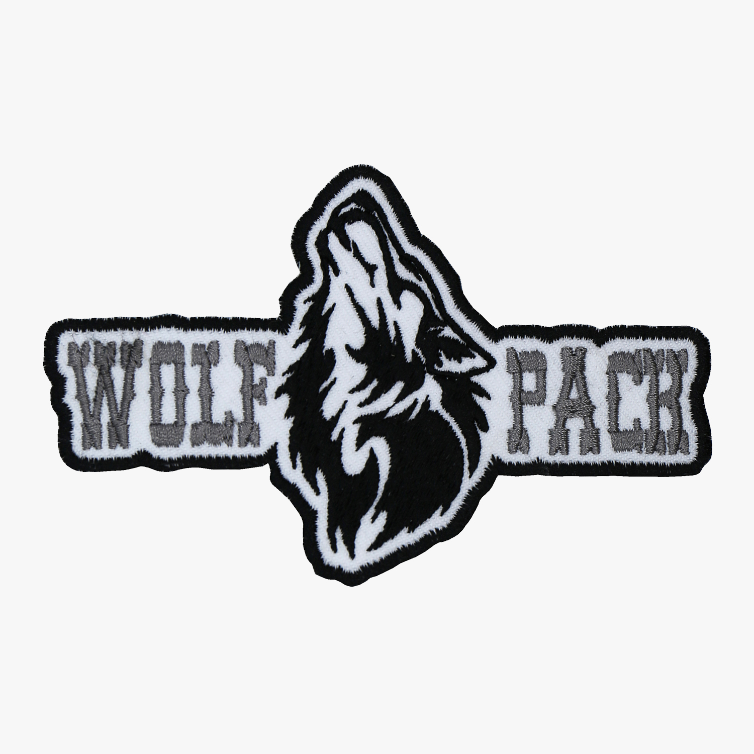 Wolf Pack Motorcycle Club Embroidered Biker Patch