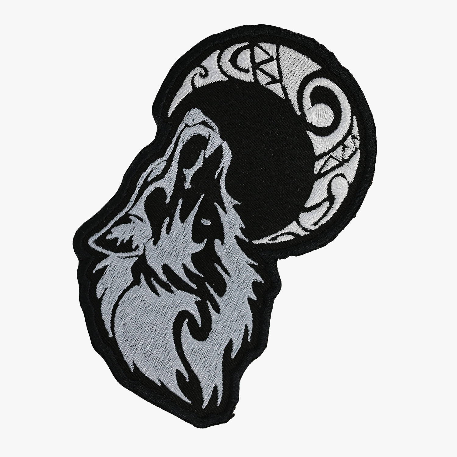 Howling Moon Wolf Motorcycle Club Embroidered Biker Patch
